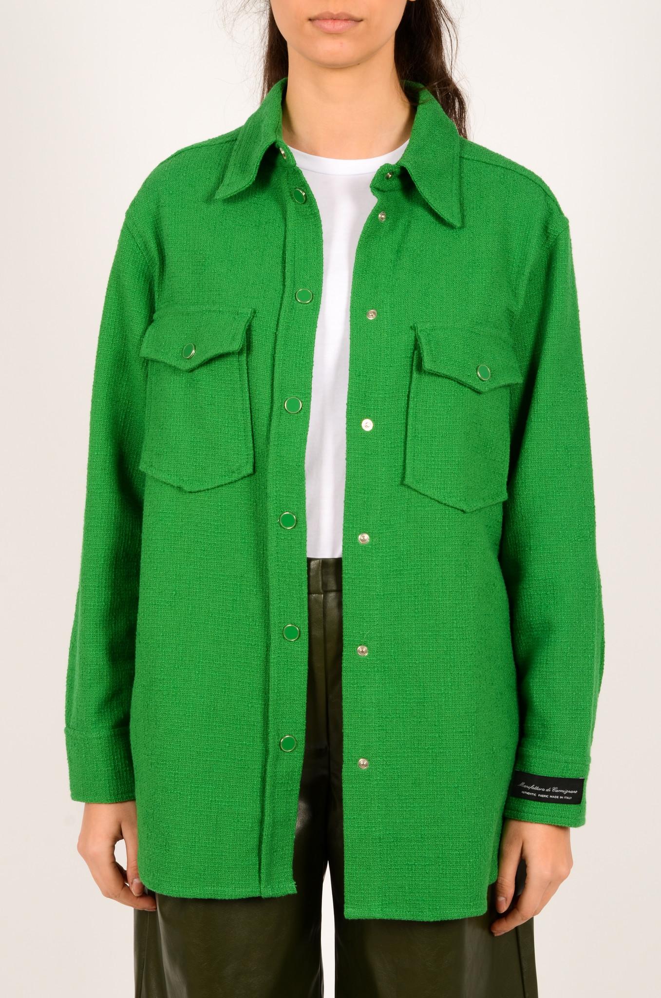 GREEN TEXTURED SHIRT JACKET-1