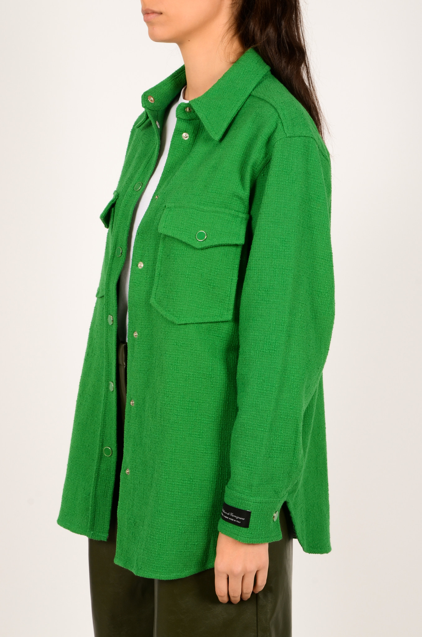 GREEN TEXTURED SHIRT JACKET-3