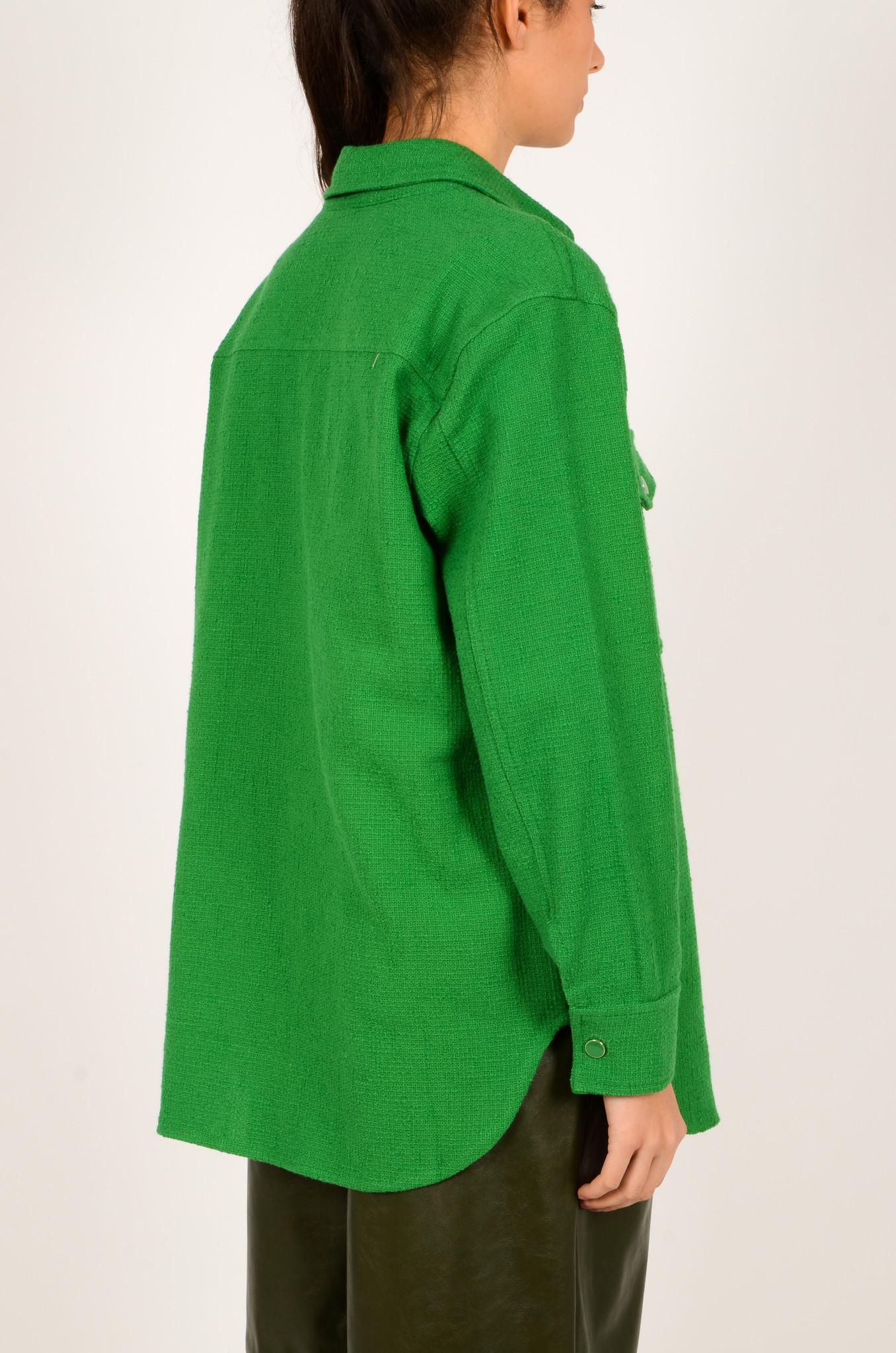 GREEN TEXTURED SHIRT JACKET-4