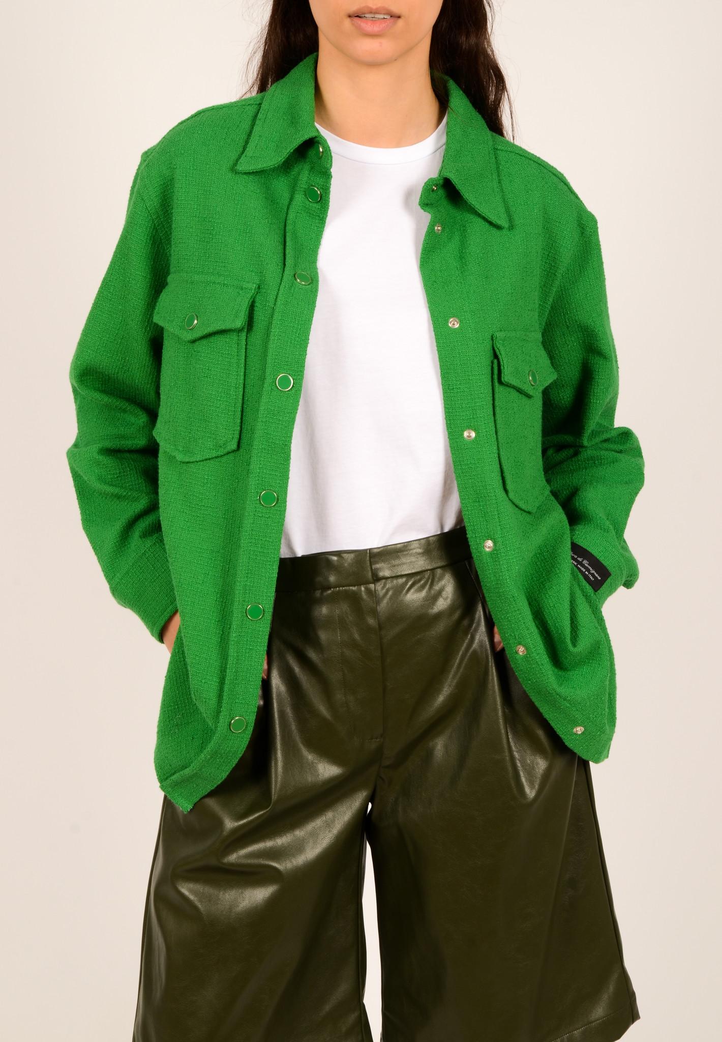 GREEN TEXTURED SHIRT JACKET-2