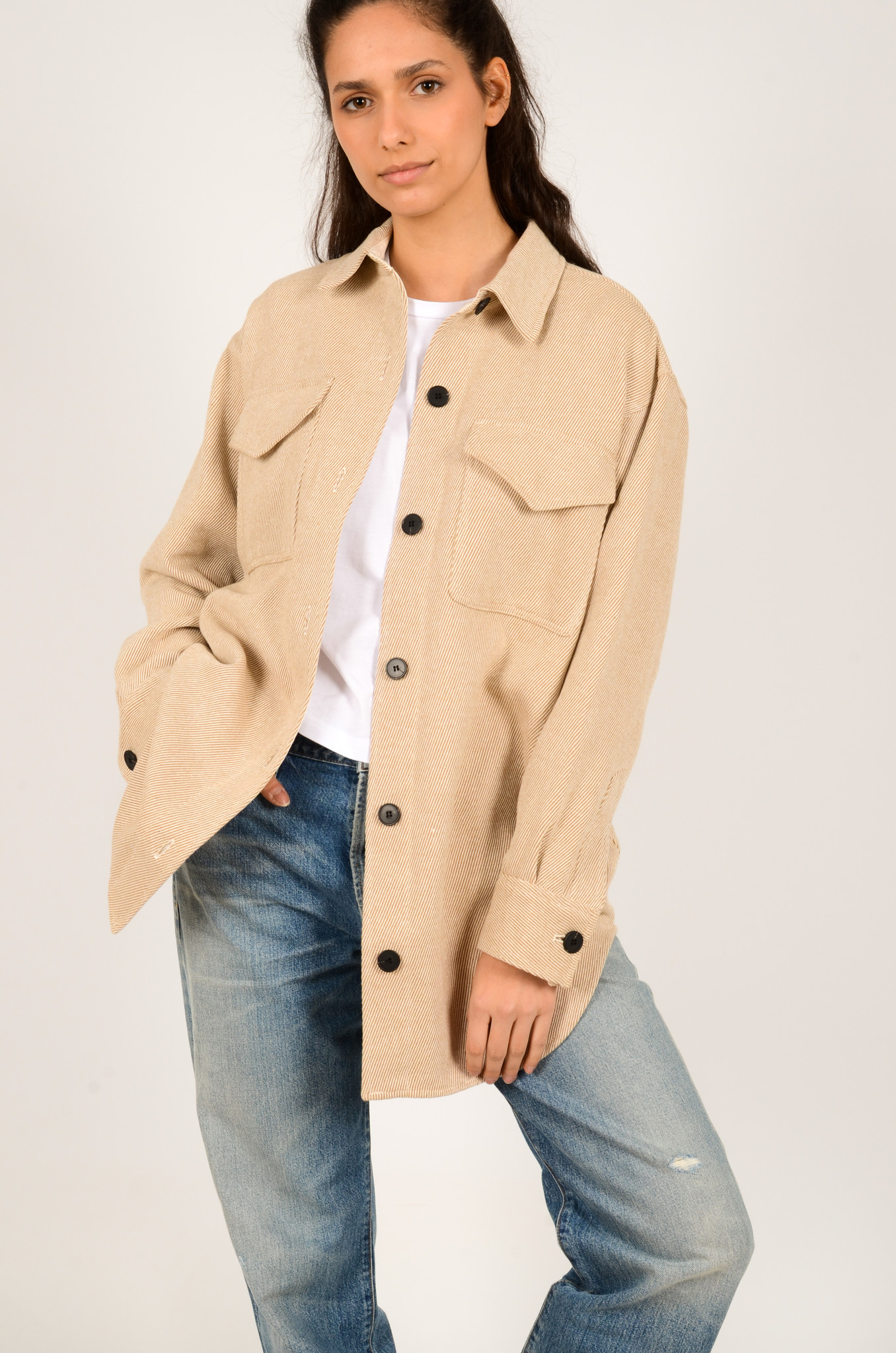 PALERMO SHIRT COAT IN CAMEL-5