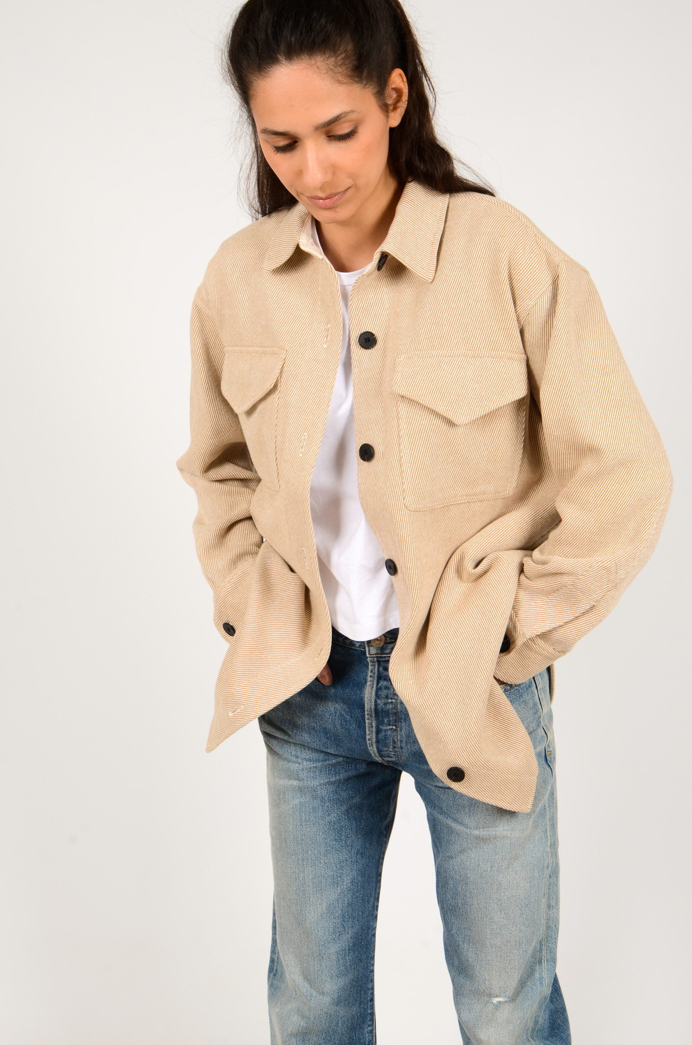 PALERMO SHIRT COAT IN CAMEL-2