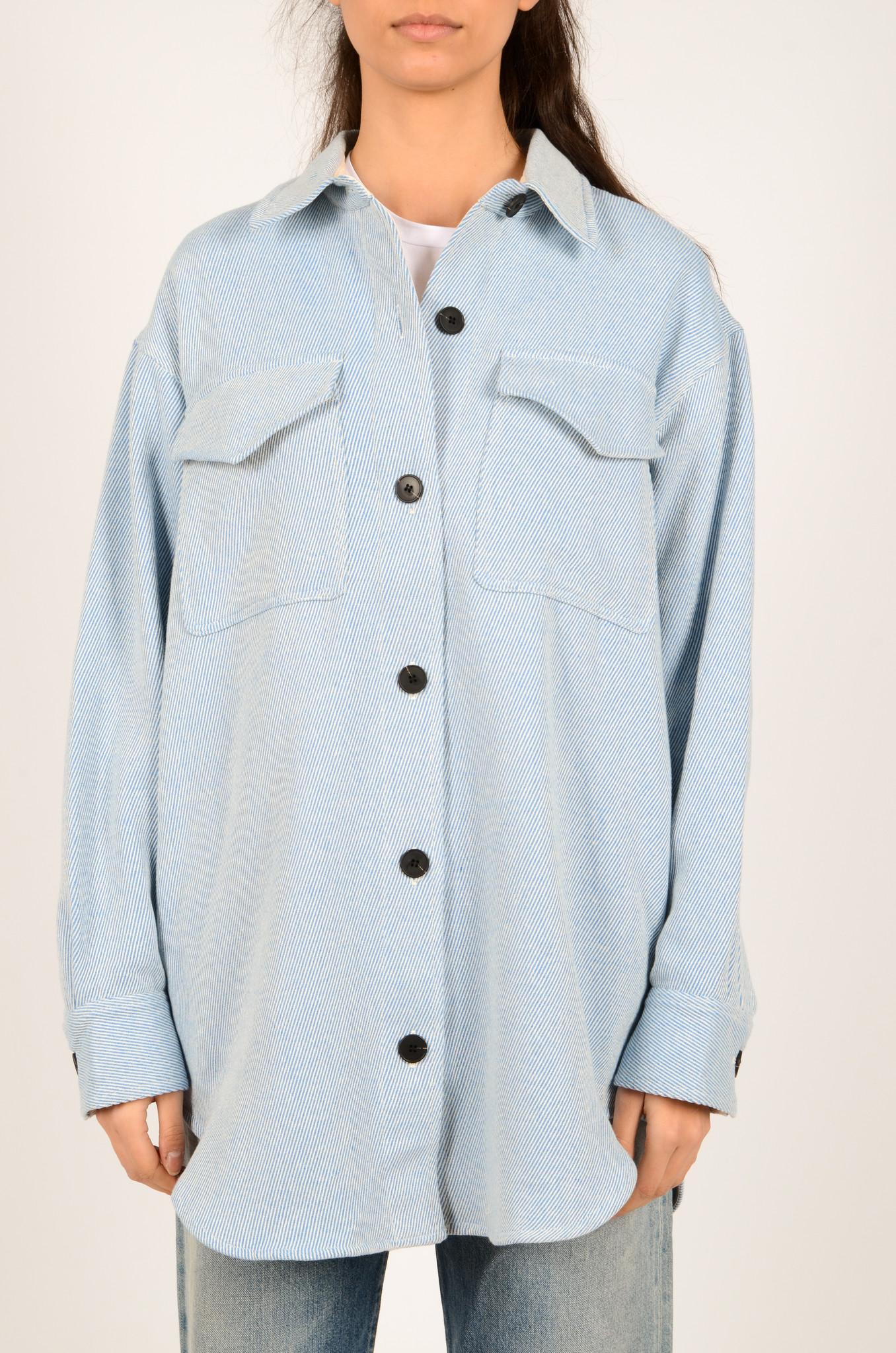 PALERMO SHIRT COAT IN DUSTY BLUE-1