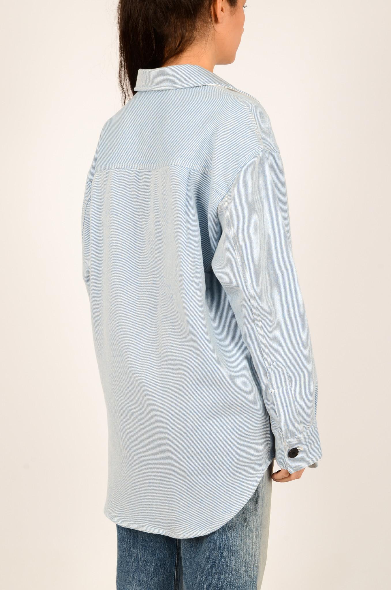 PALERMO SHIRT COAT IN DUSTY BLUE-4