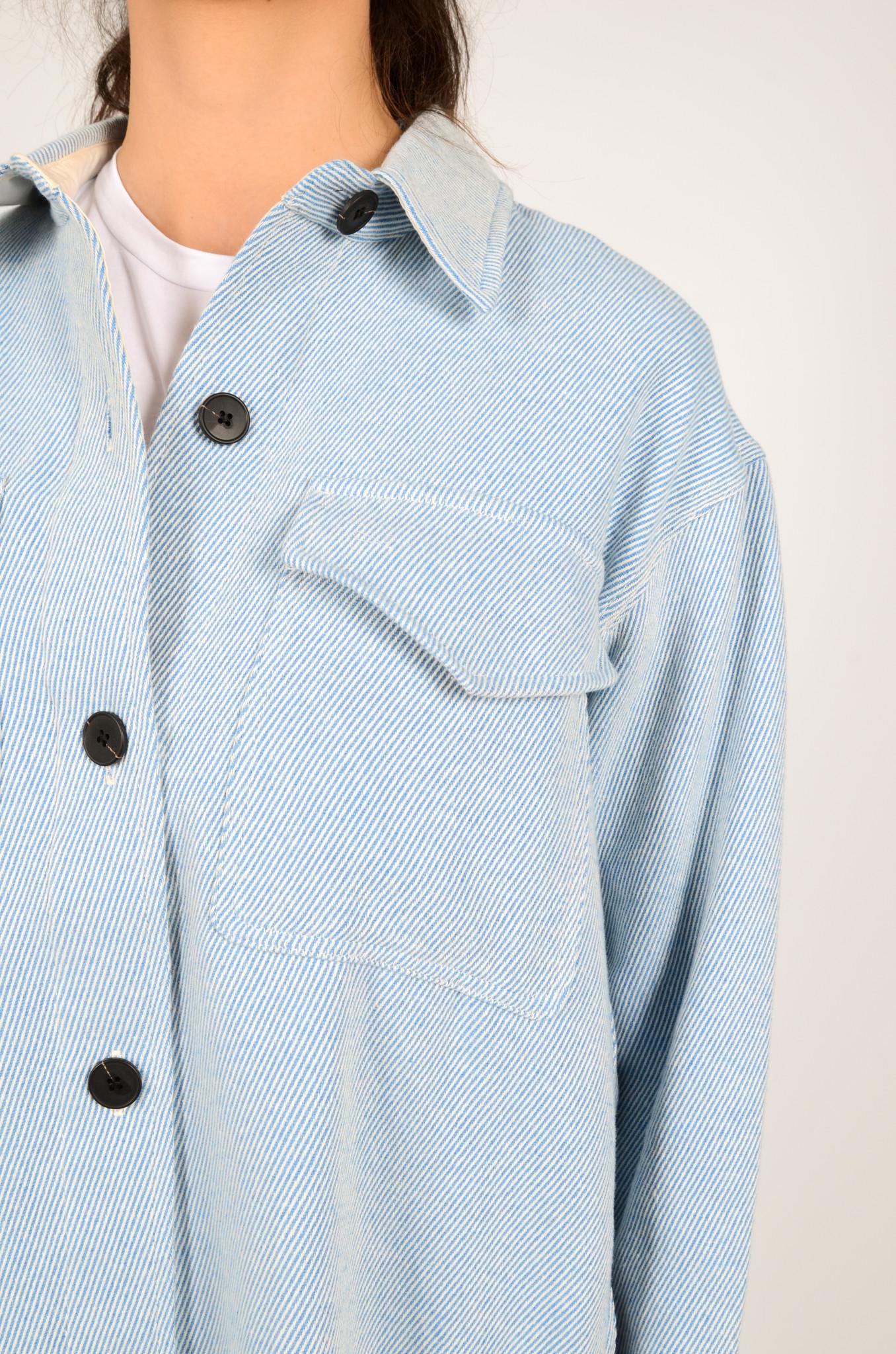 PALERMO SHIRT COAT IN DUSTY BLUE-5
