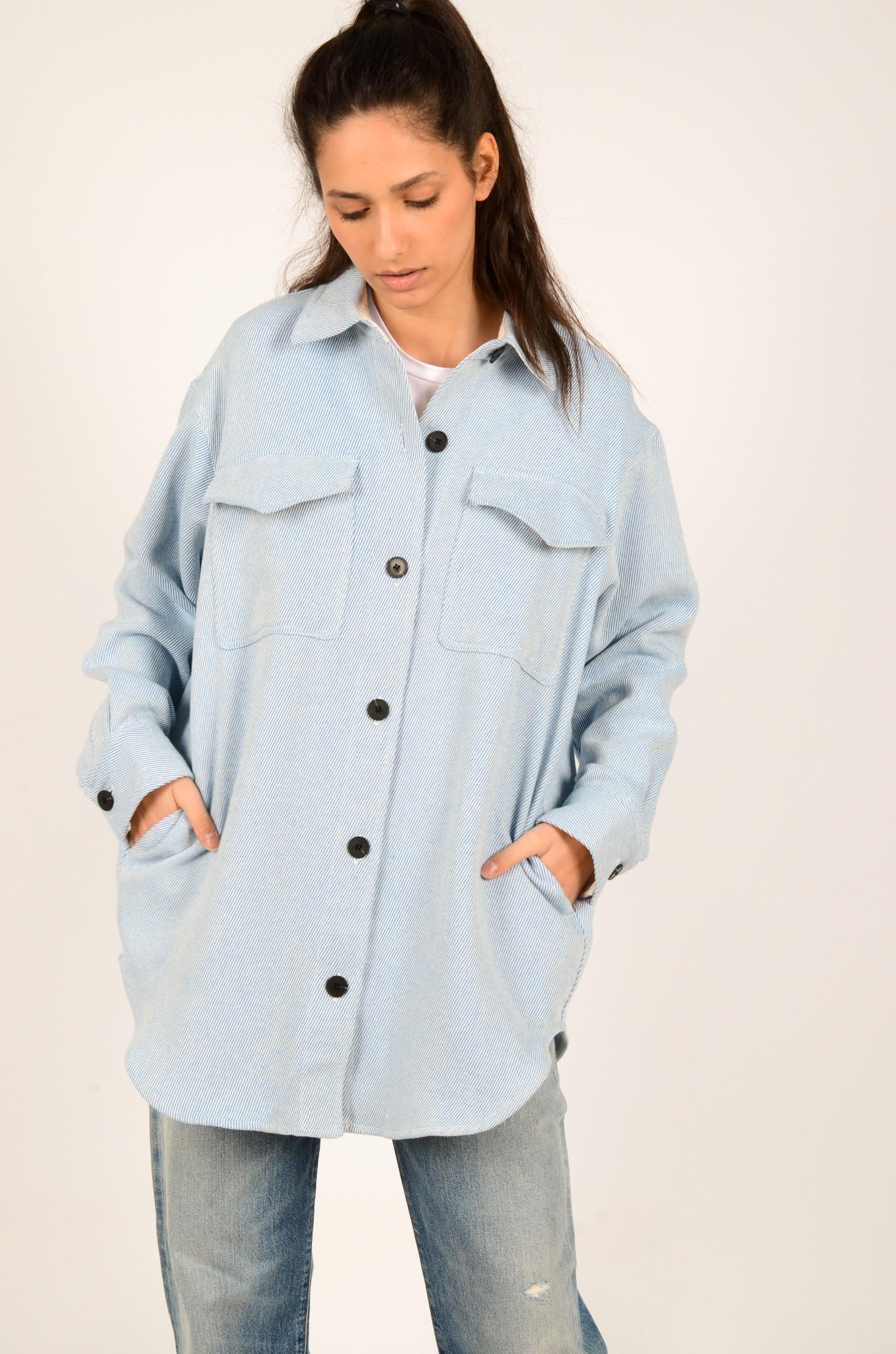 PALERMO SHIRT COAT IN DUSTY BLUE-2
