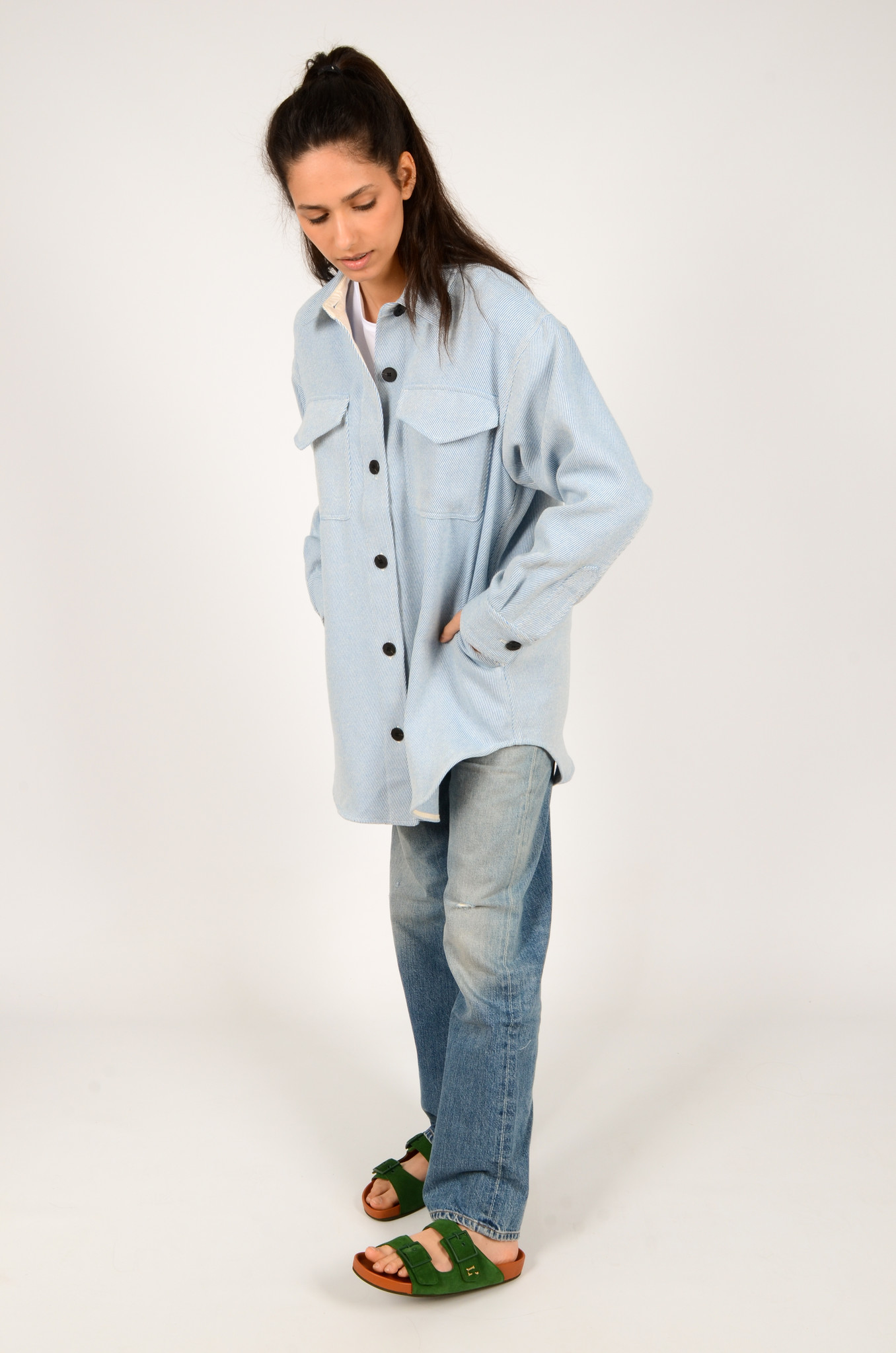 PALERMO SHIRT COAT IN DUSTY BLUE-6