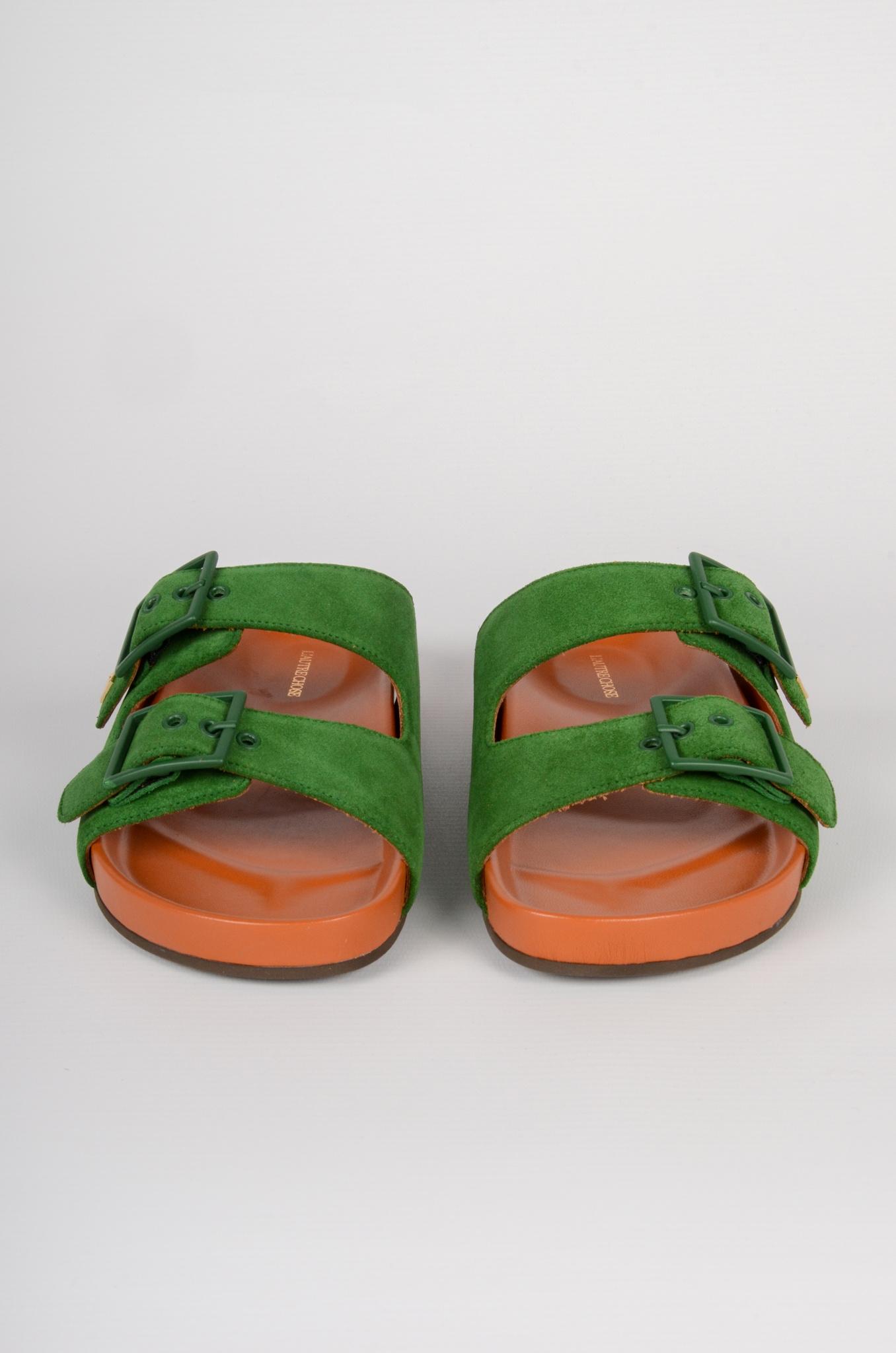 GREEN SUEDE SANDALS-3