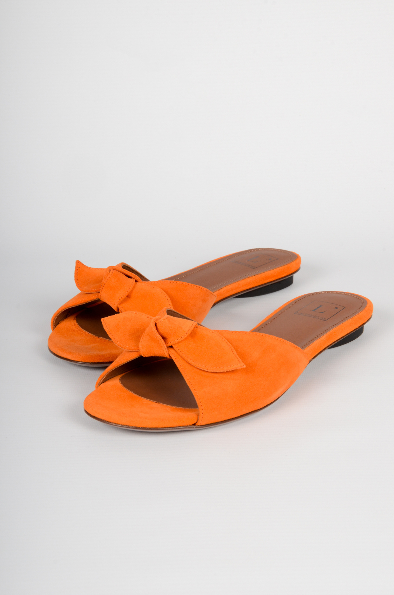 SUEDE BOW SLIPPERS-1