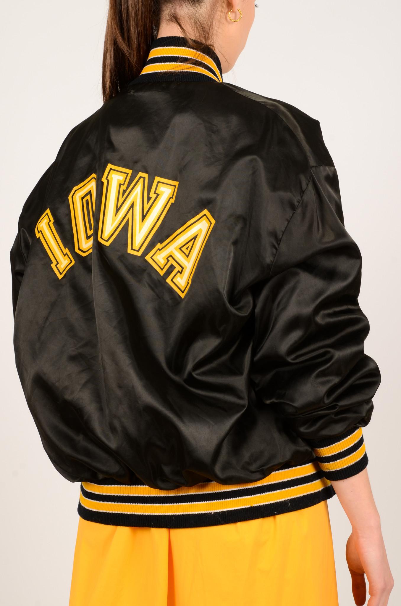 IOWA BLACK NYLON JACKET-4