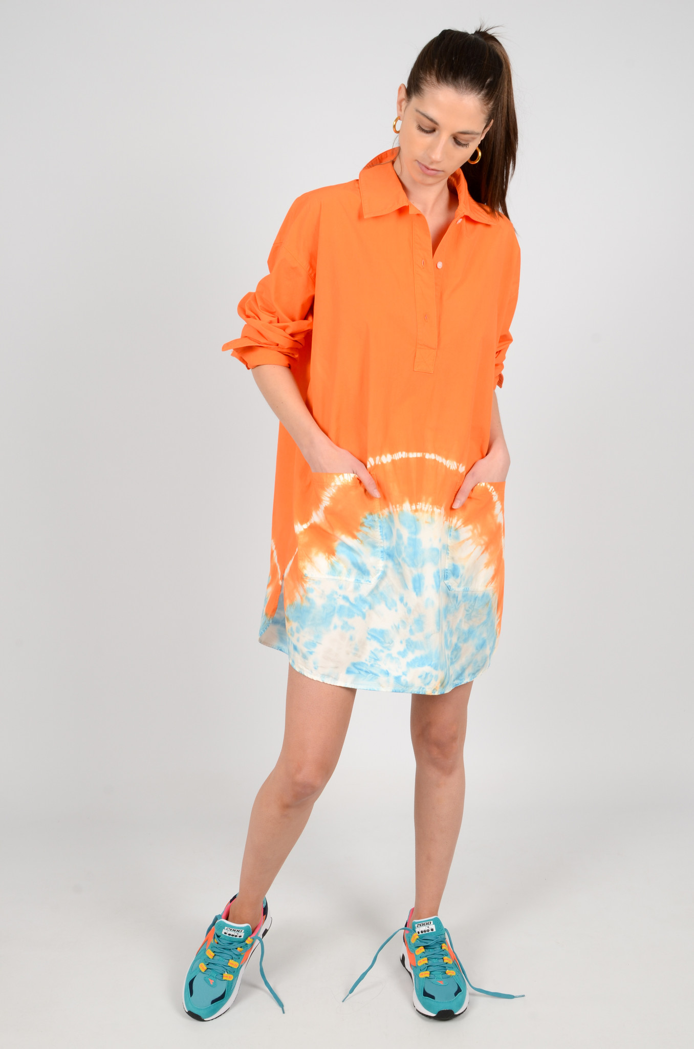 TIE DYE SHIRT DRESS-6