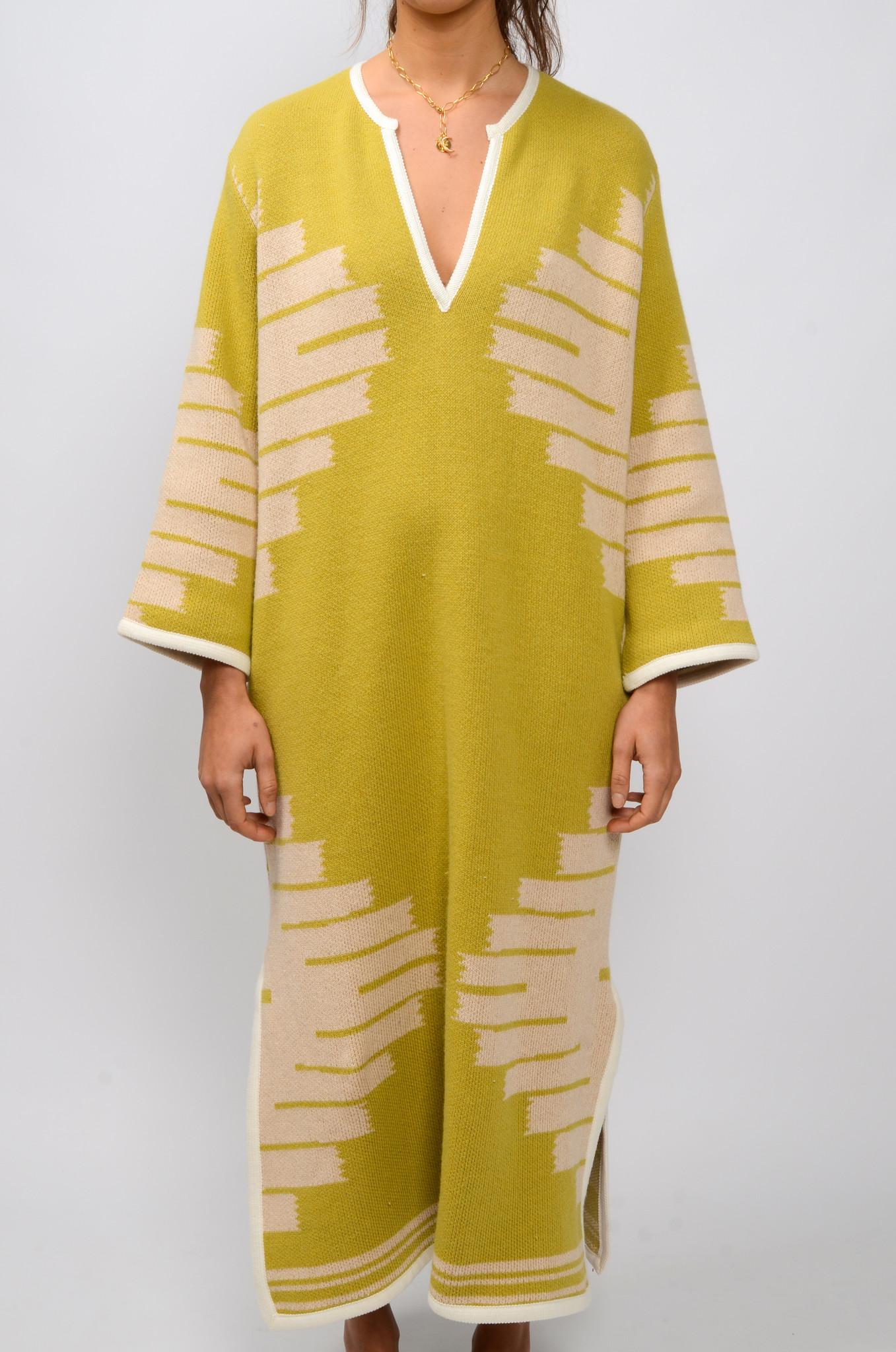 MANTA DJELLABA OLIVE DRESS-1