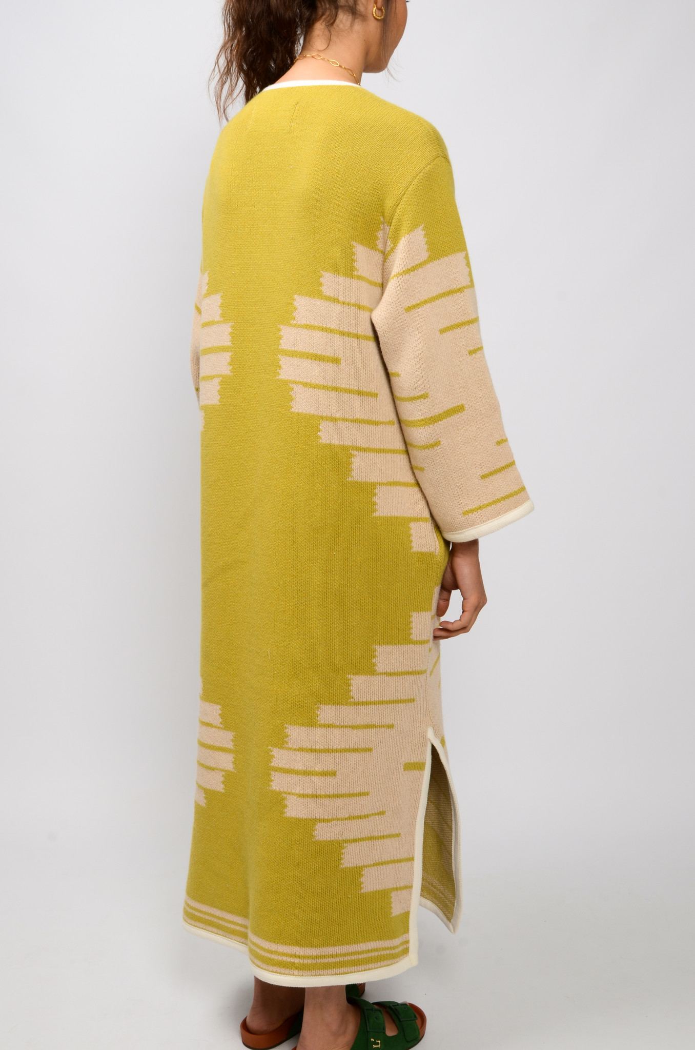 MANTA DJELLABA OLIVE DRESS-4