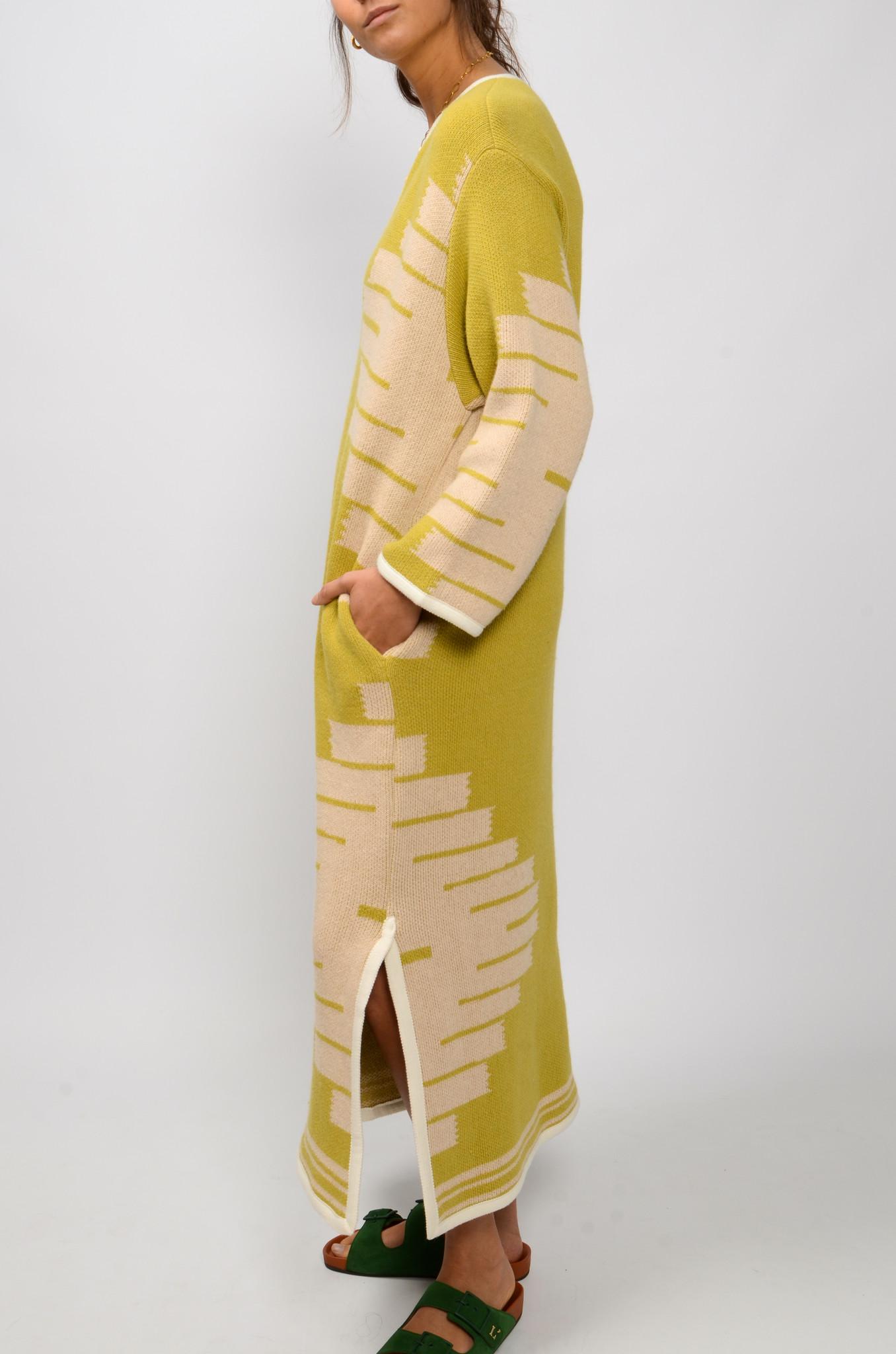 MANTA DJELLABA OLIVE DRESS-5
