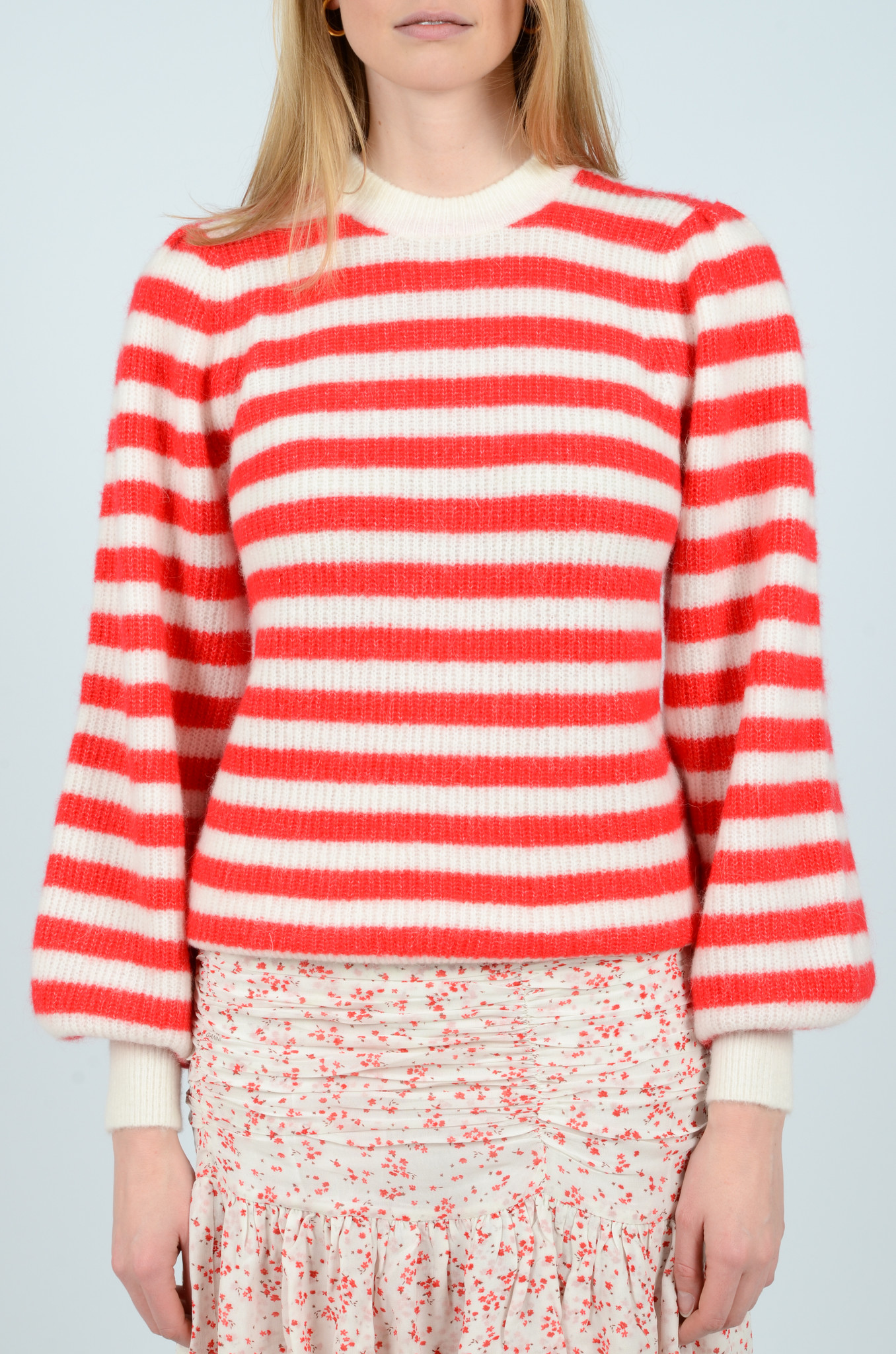 STRIPED KNITTED TOP-1