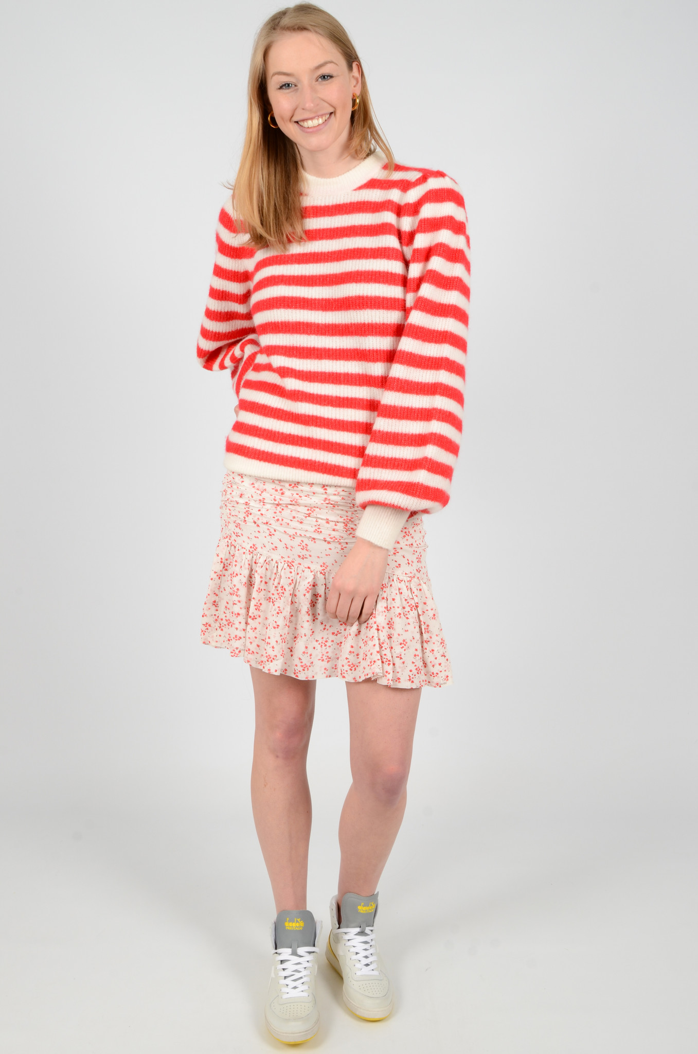 STRIPED KNITTED TOP-2