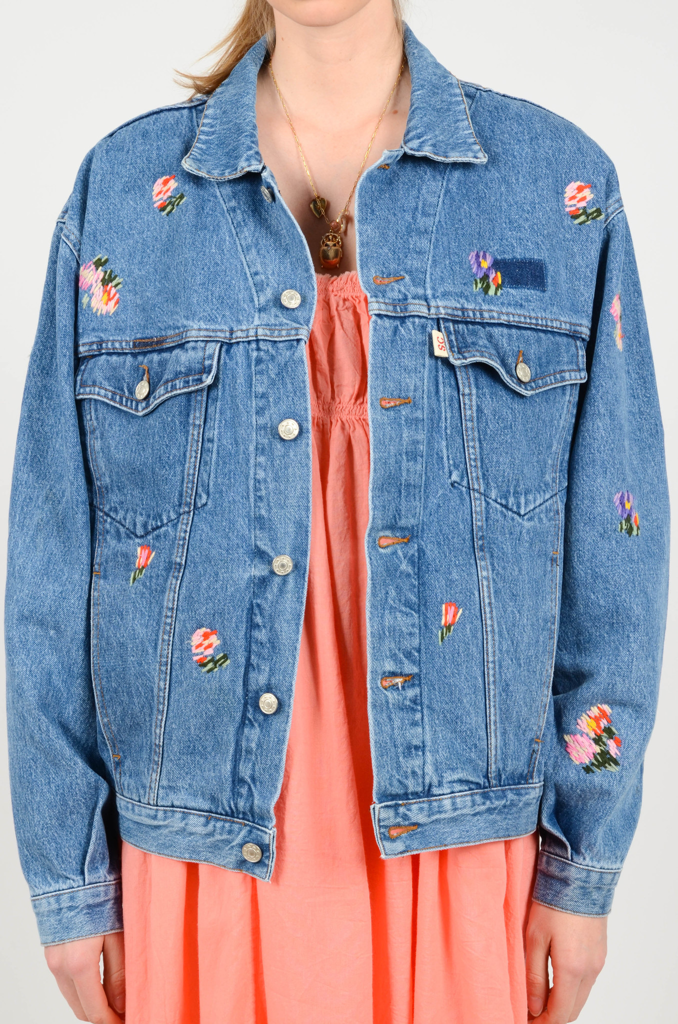 EMBROIDERED DENIM JACKET-1