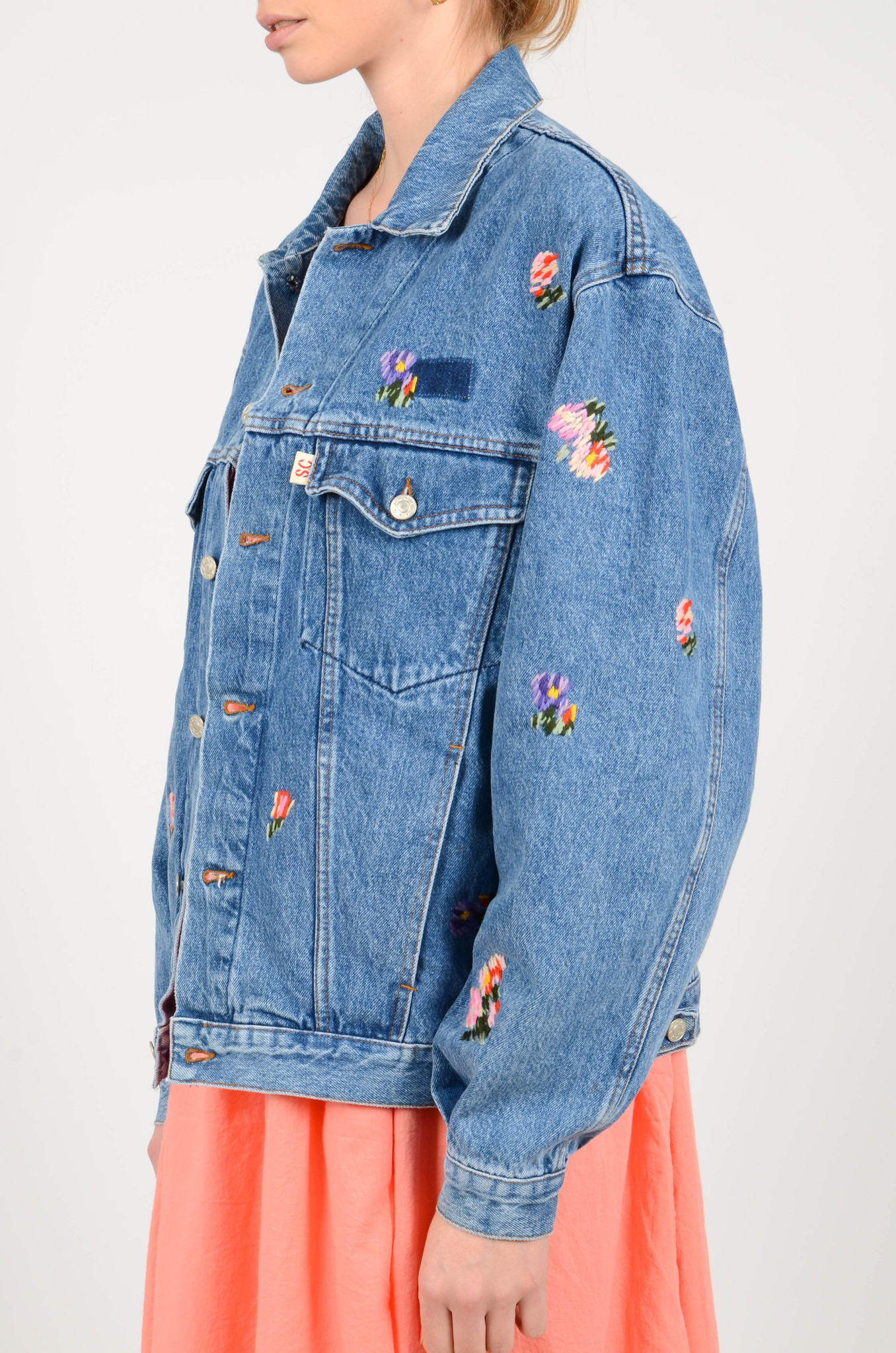 EMBROIDERED DENIM JACKET-4