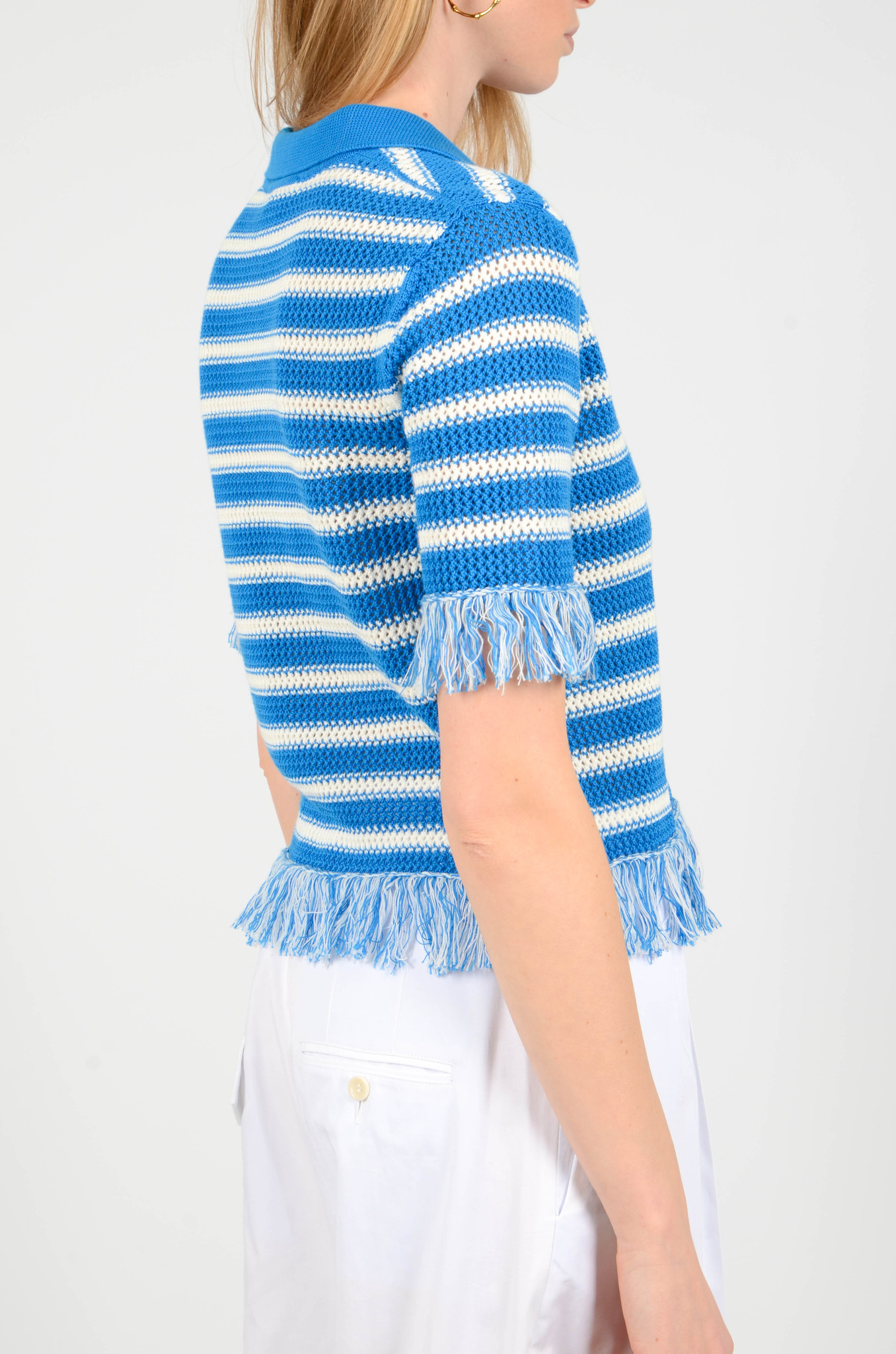 FRINGE KNITTED POLO TOP-4