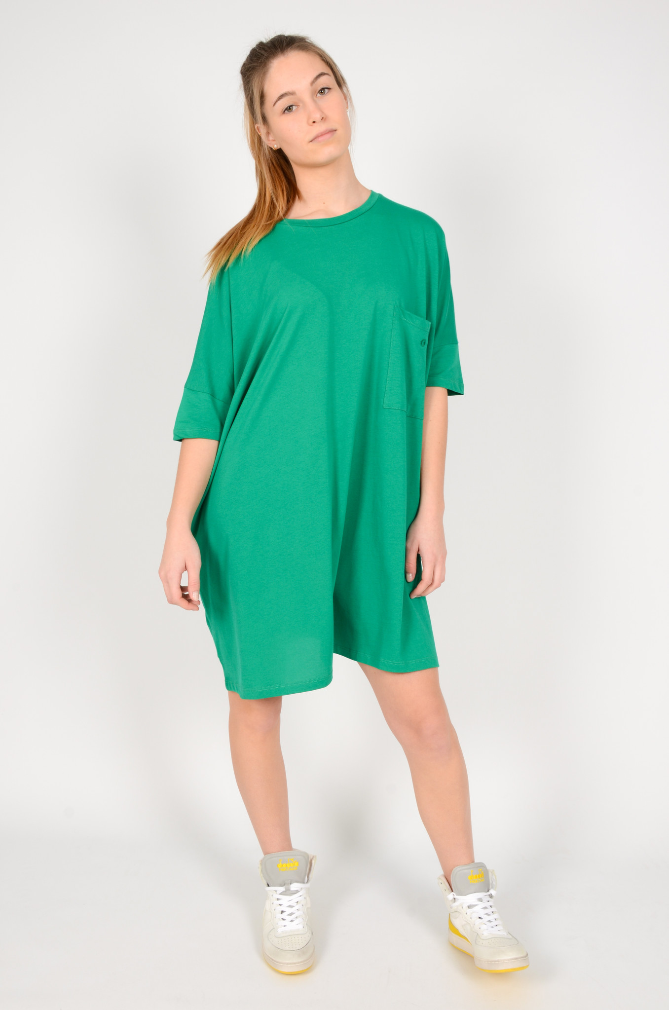 T-DRESS IN GREEN-1