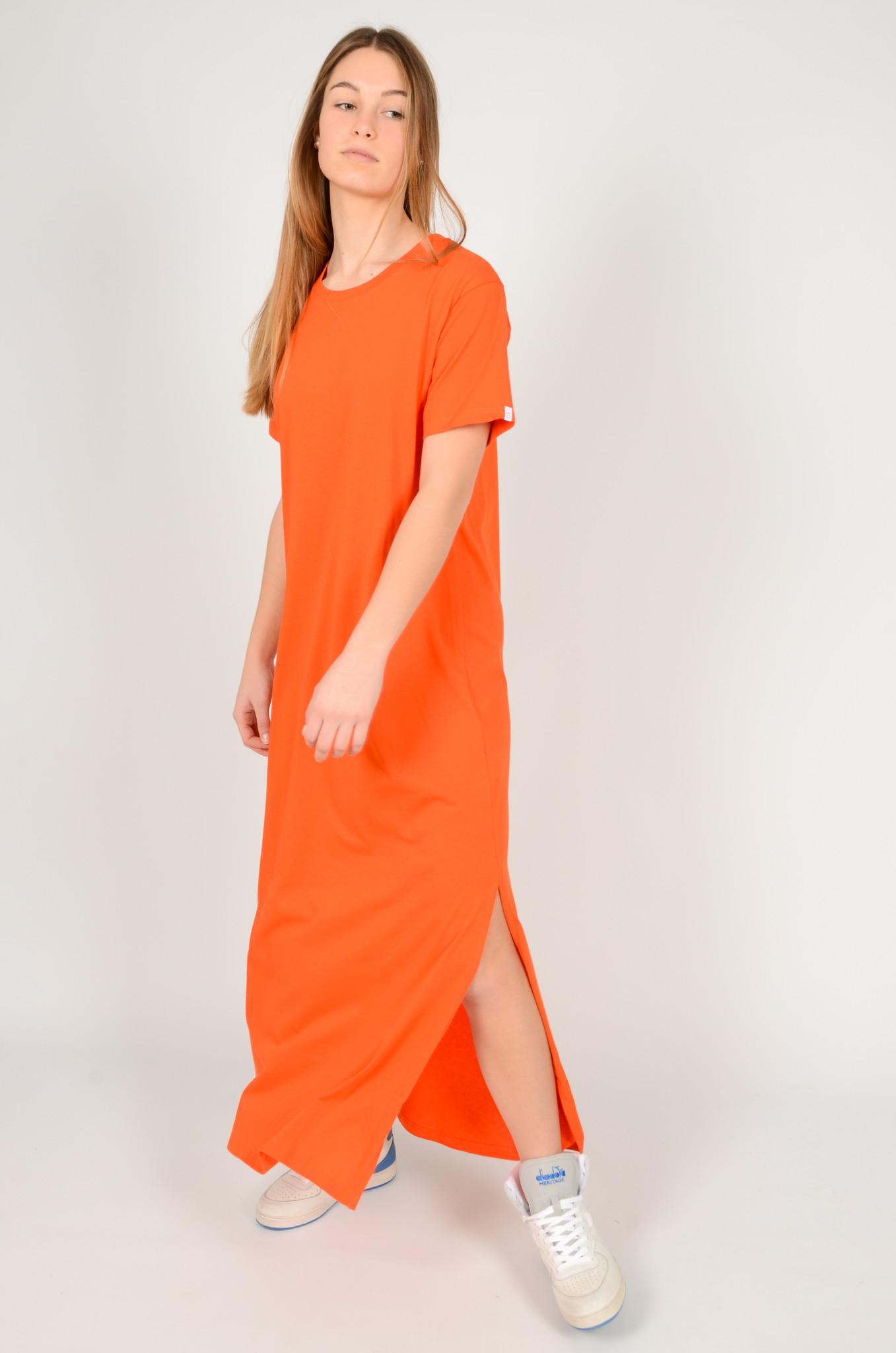 LONG COTTON T DRESS-5