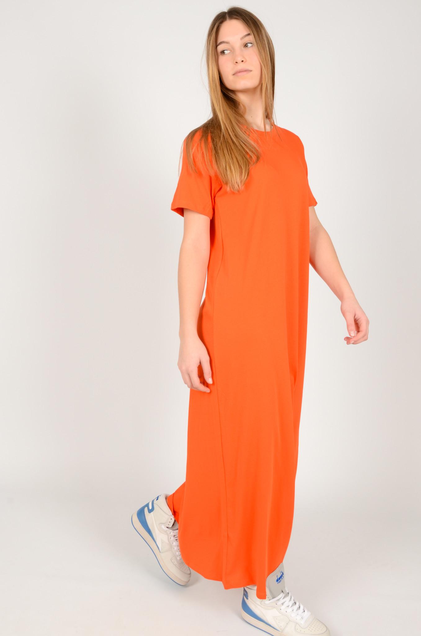 LONG COTTON T DRESS-1