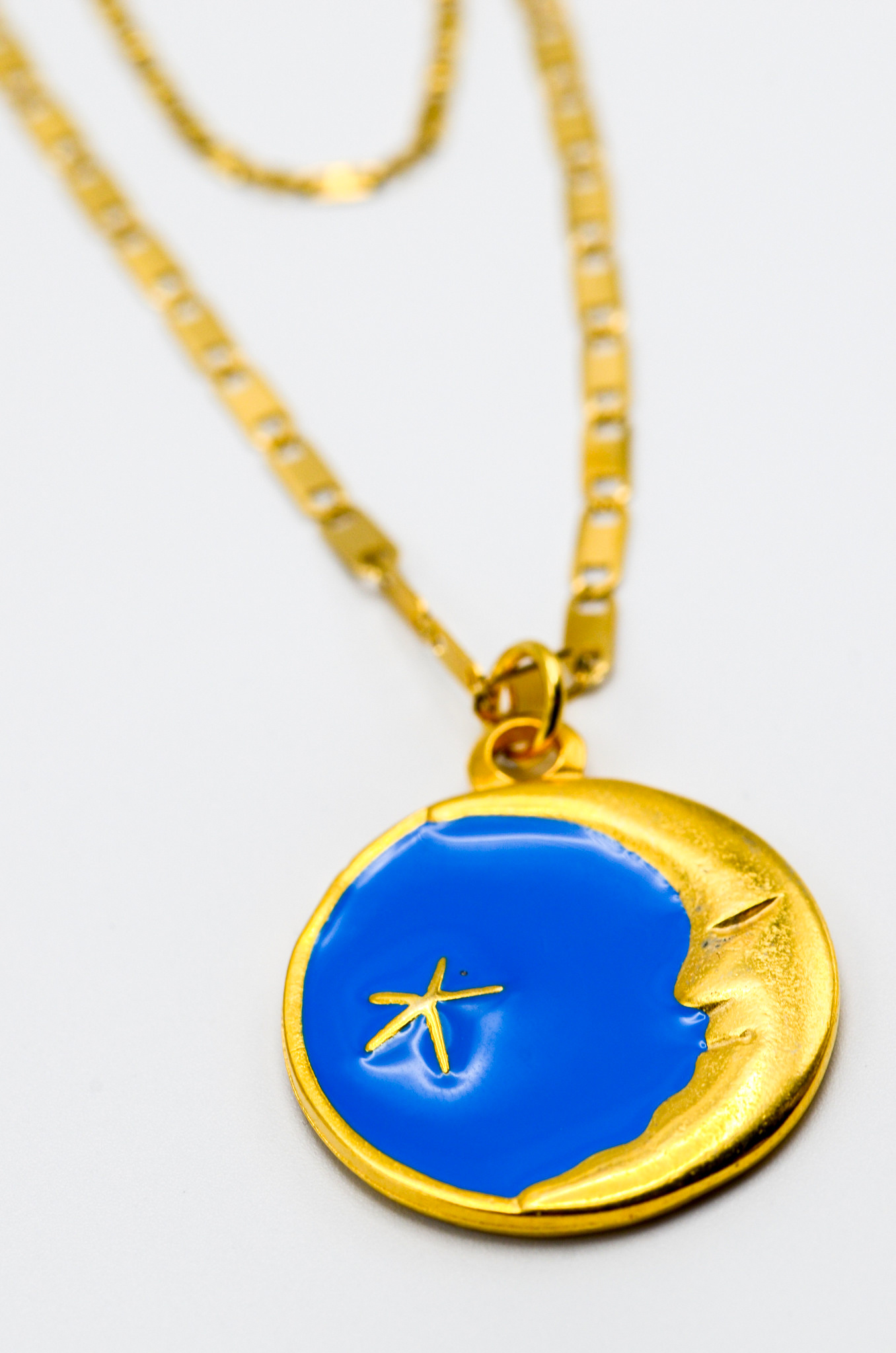 LUNA CHARM NECKLACE IN BLUE-2