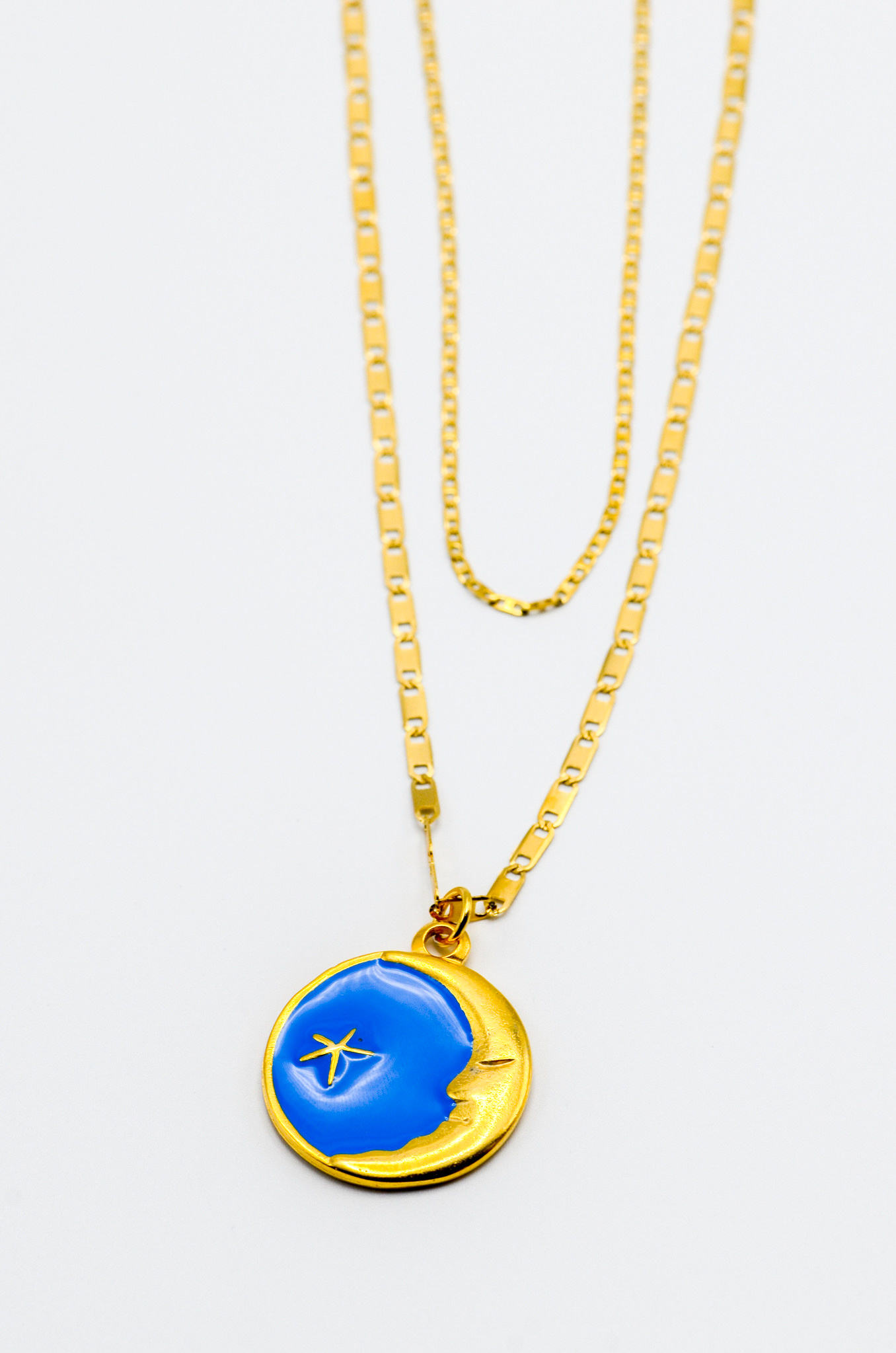 LUNA CHARM NECKLACE IN BLUE-1