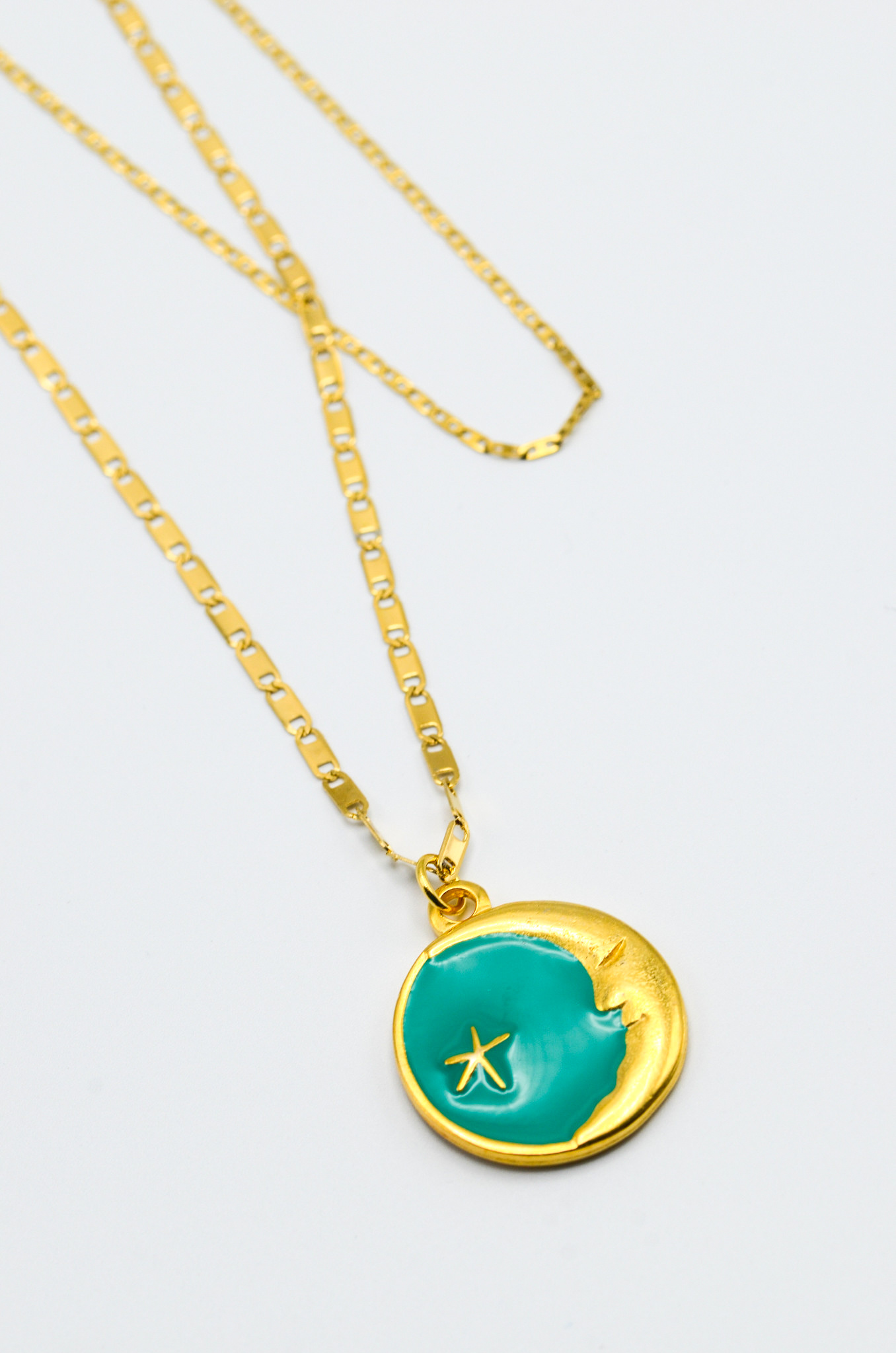 LUNA CHARM NECKLACE IN GREEN-1
