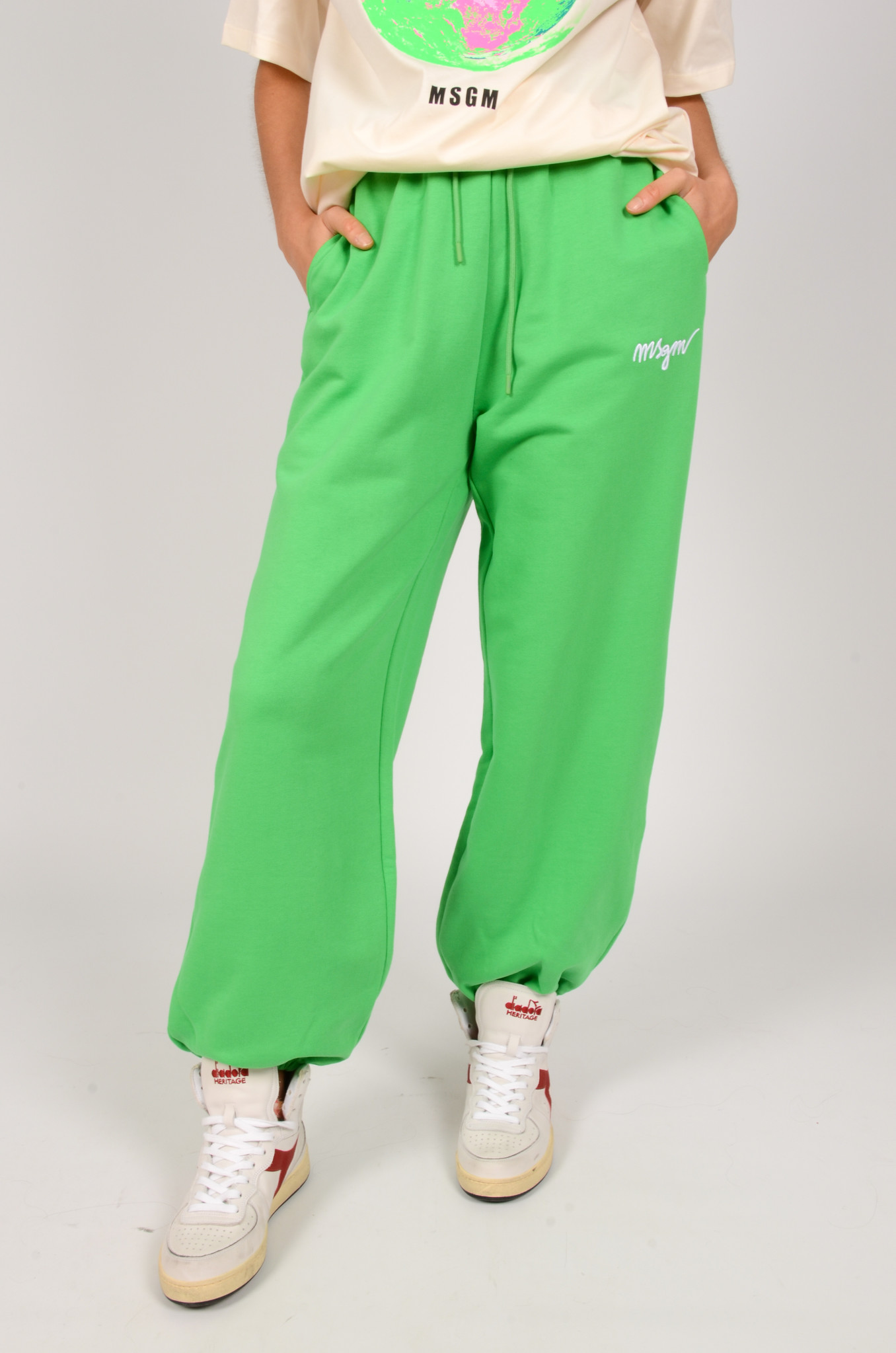 LOGO EMBROIDERED LOOSE FIT JOGGERS-1