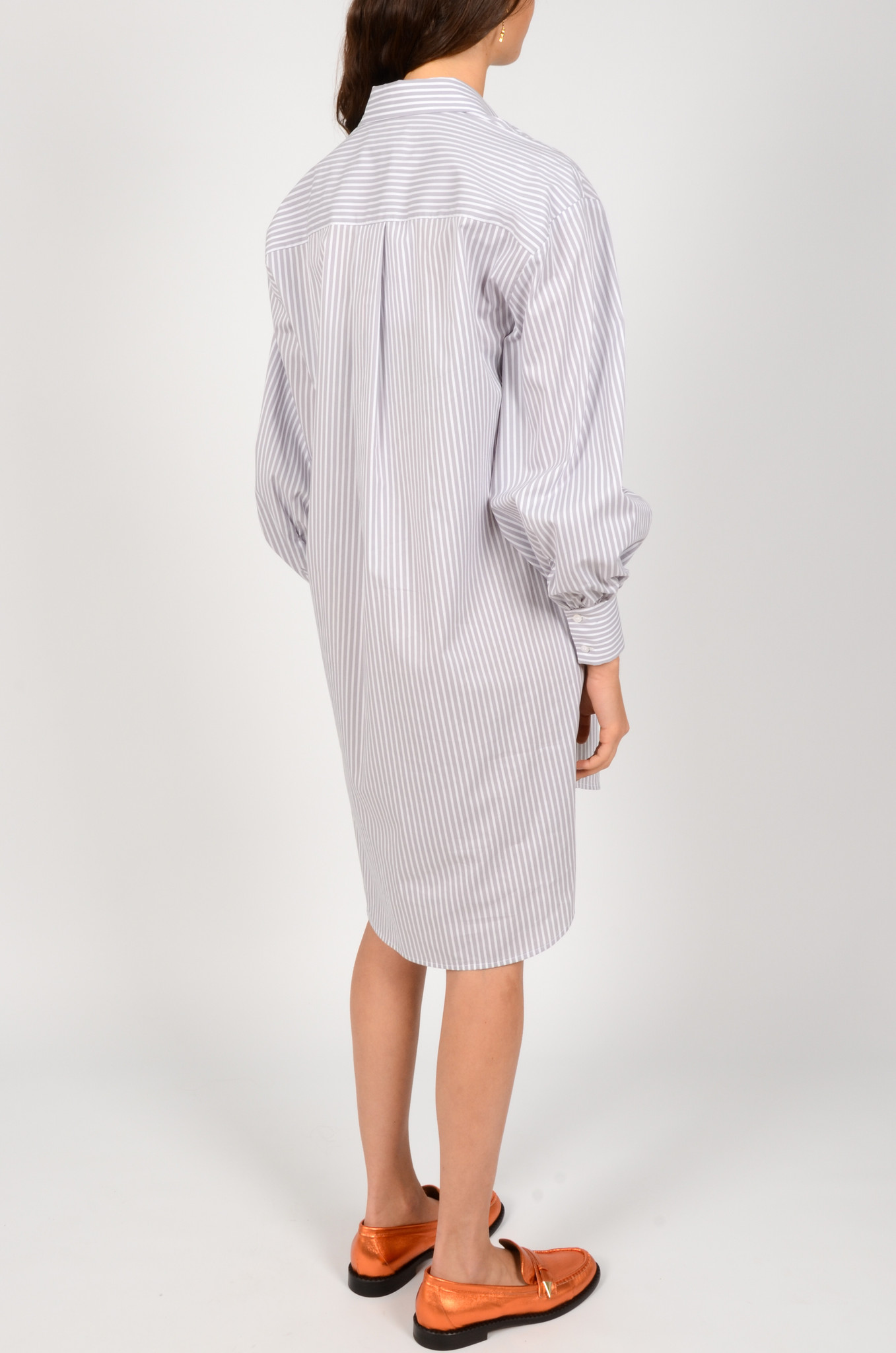 LIGHT GREY STRIPED SHIRT DRESS-3