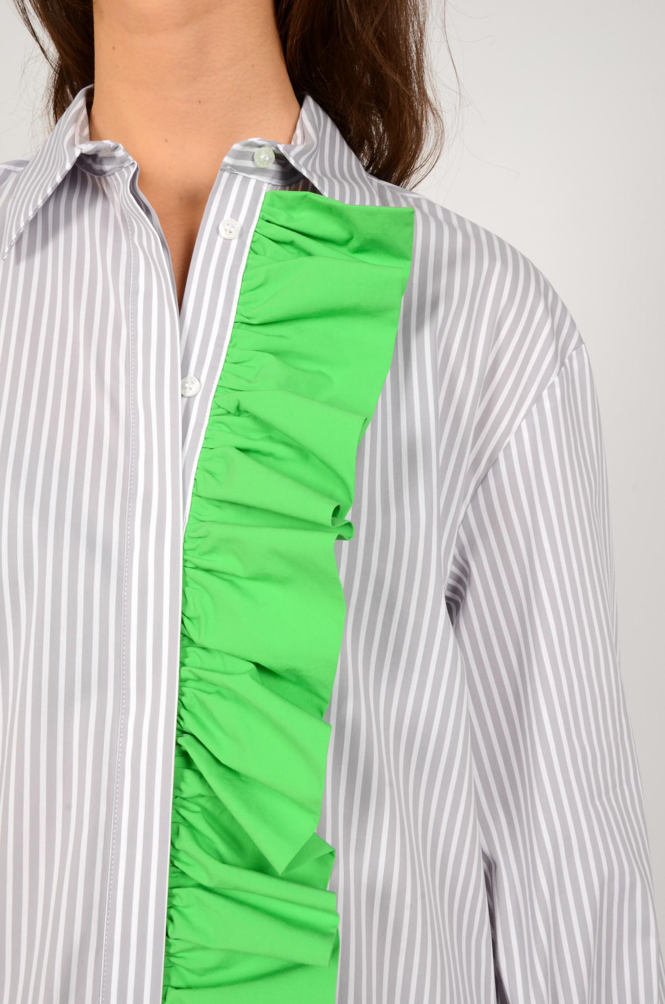 LIGHT GREY STRIPED SHIRT DRESS-4