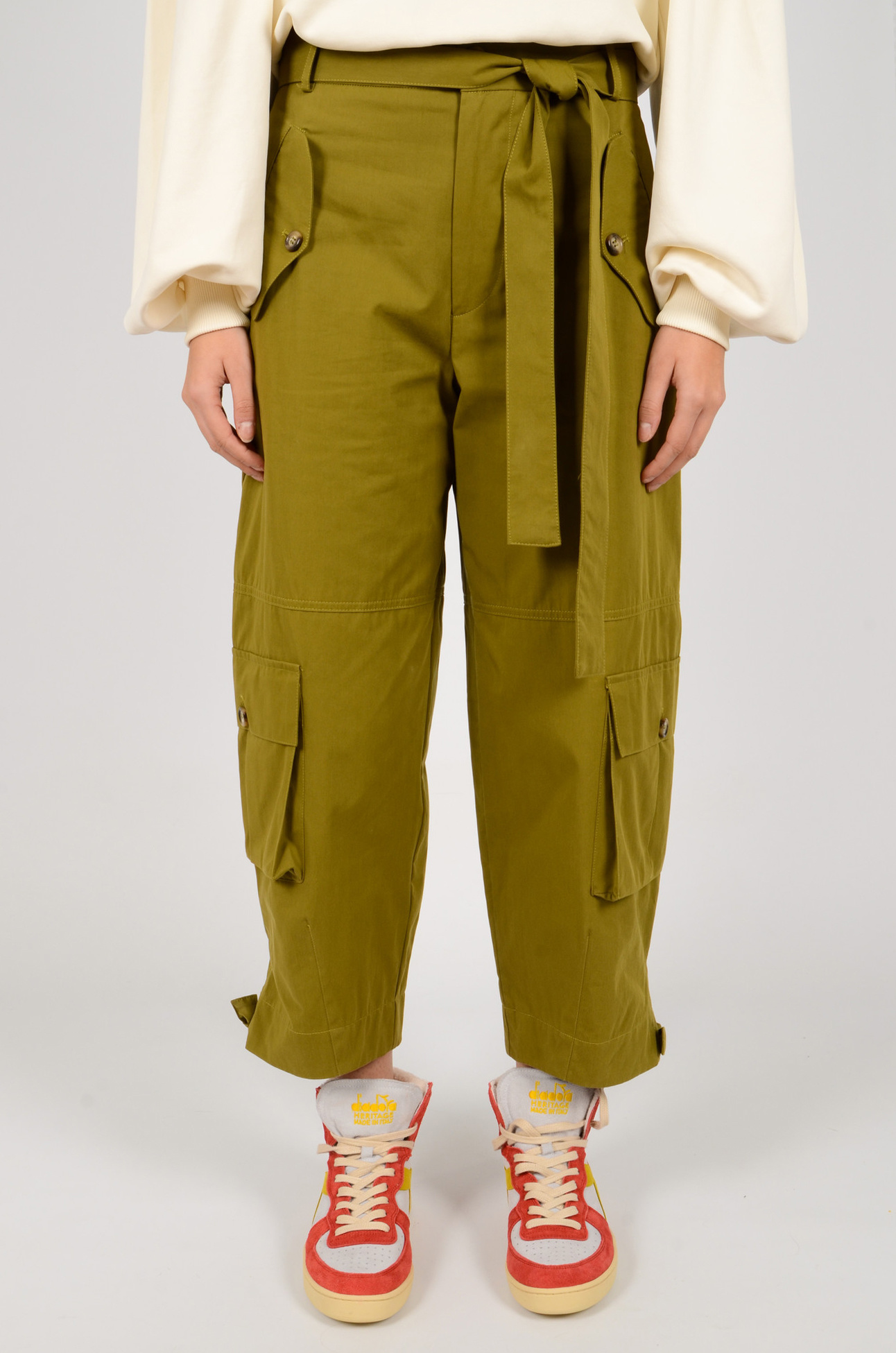 CARGO PANTS IN OLIVE GREEN-1