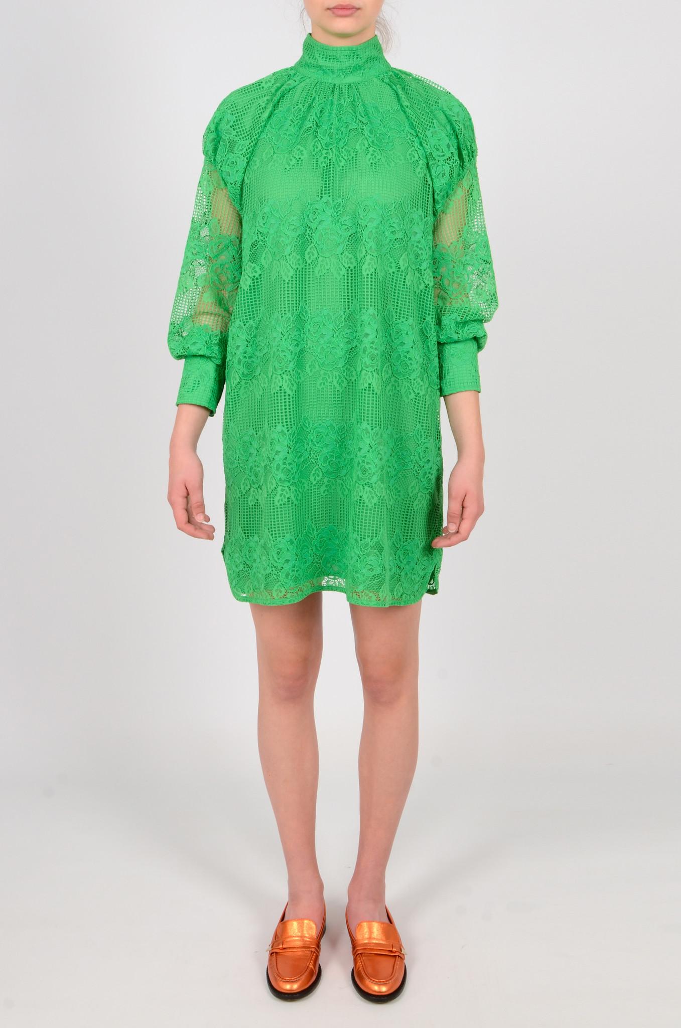 GREEN LACE DRESS-1