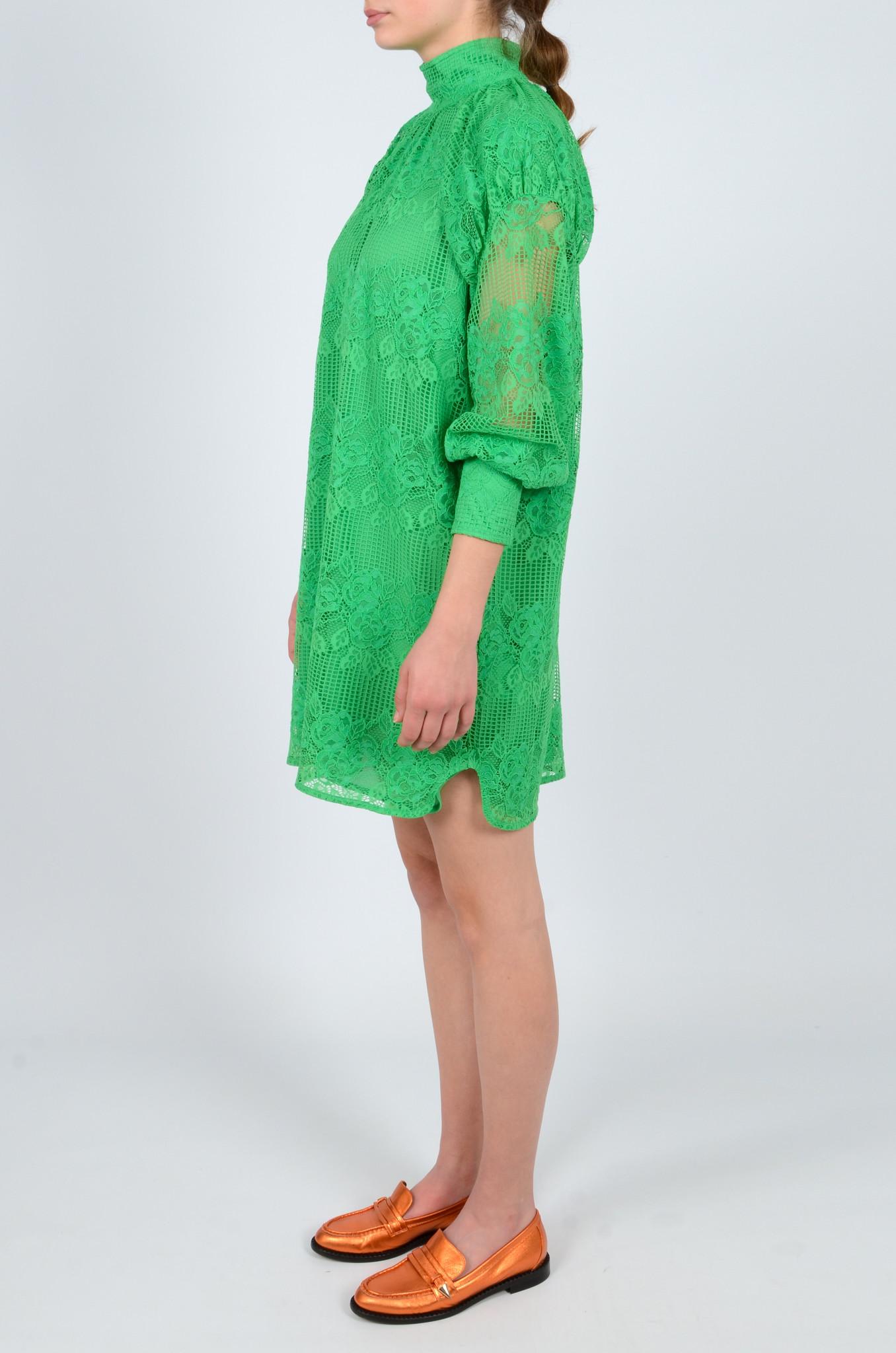GREEN LACE DRESS-3