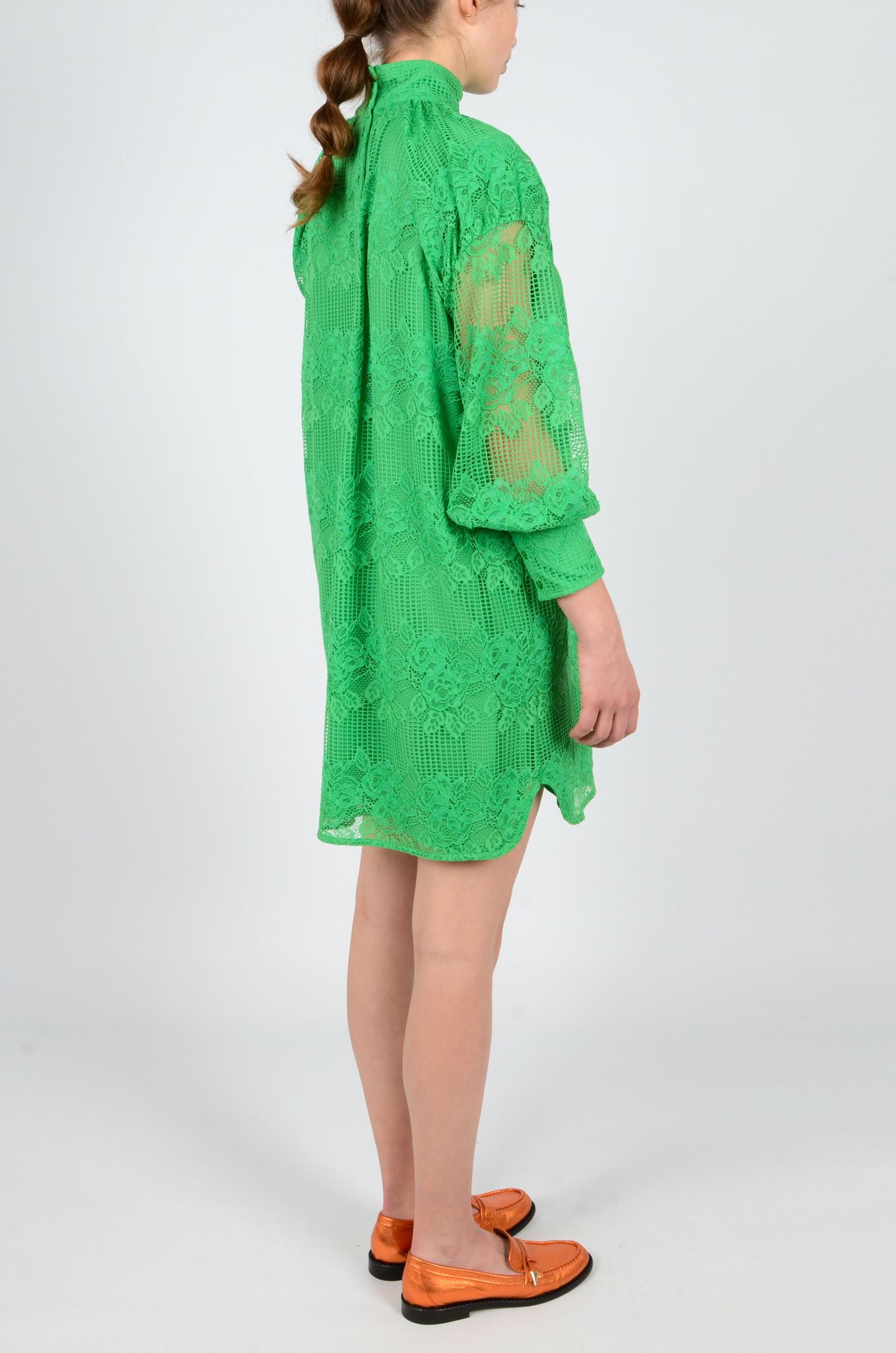 GREEN LACE DRESS-4
