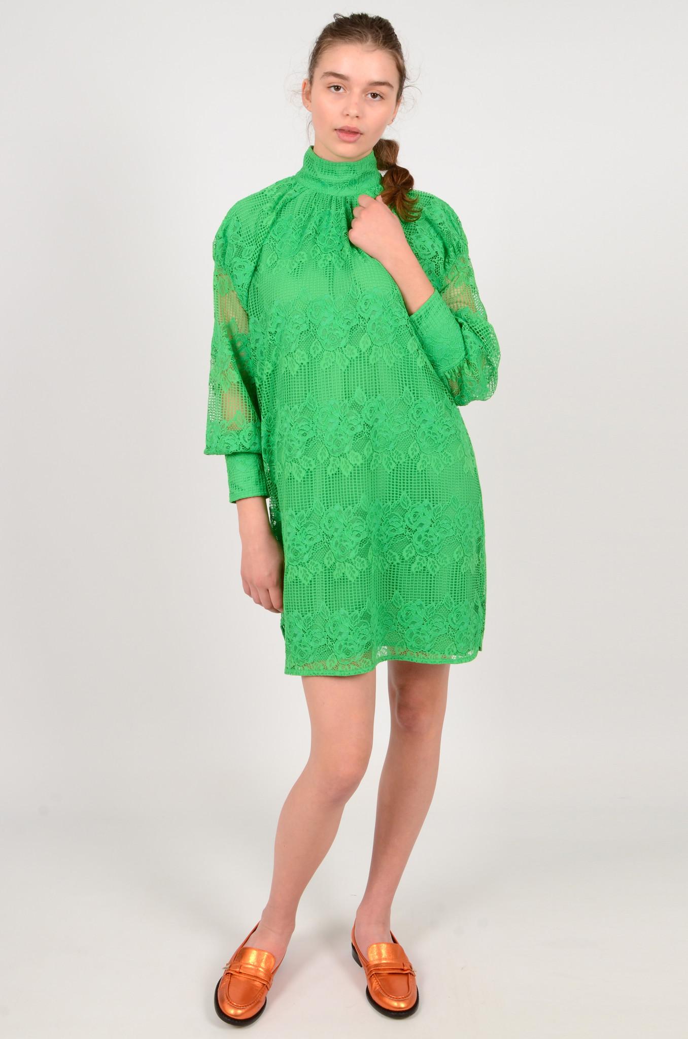 GREEN LACE DRESS-2