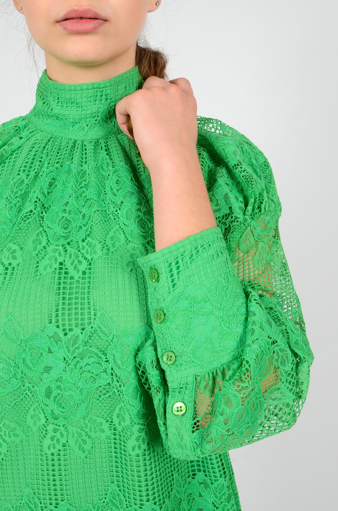 GREEN LACE DRESS-5