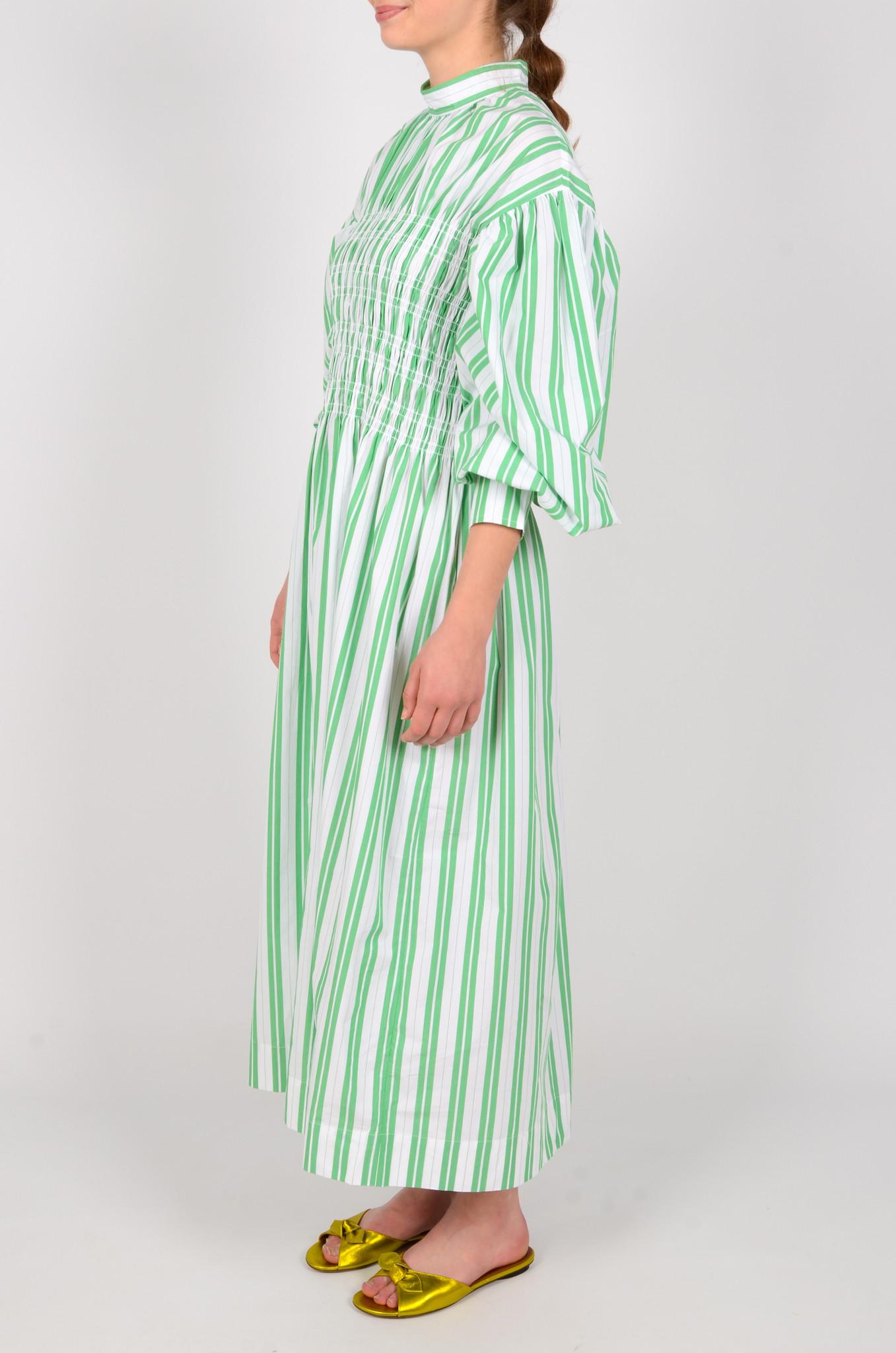 STRIPED LONG SMOCK DRESS-3