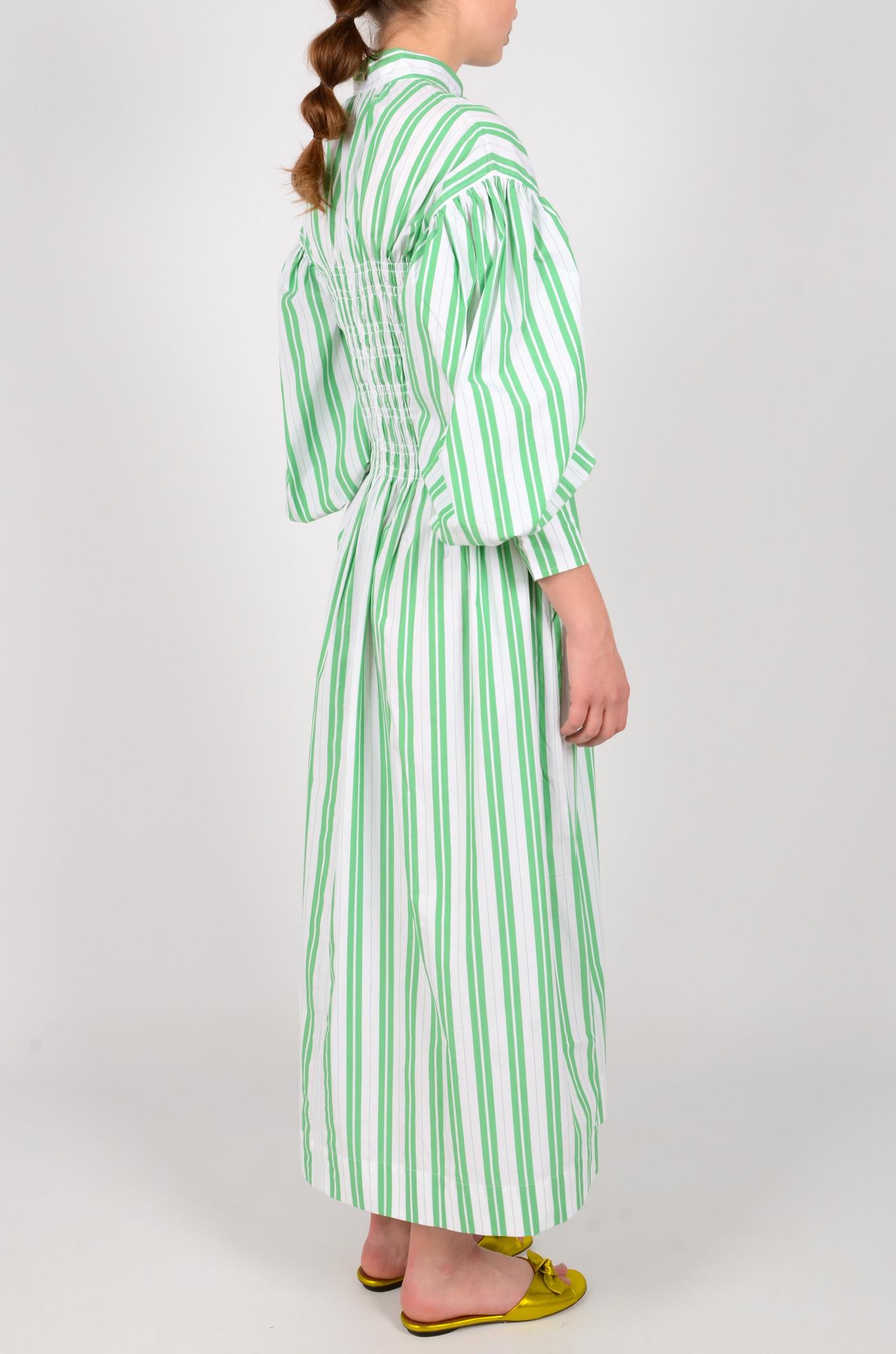 STRIPED LONG SMOCK DRESS-4