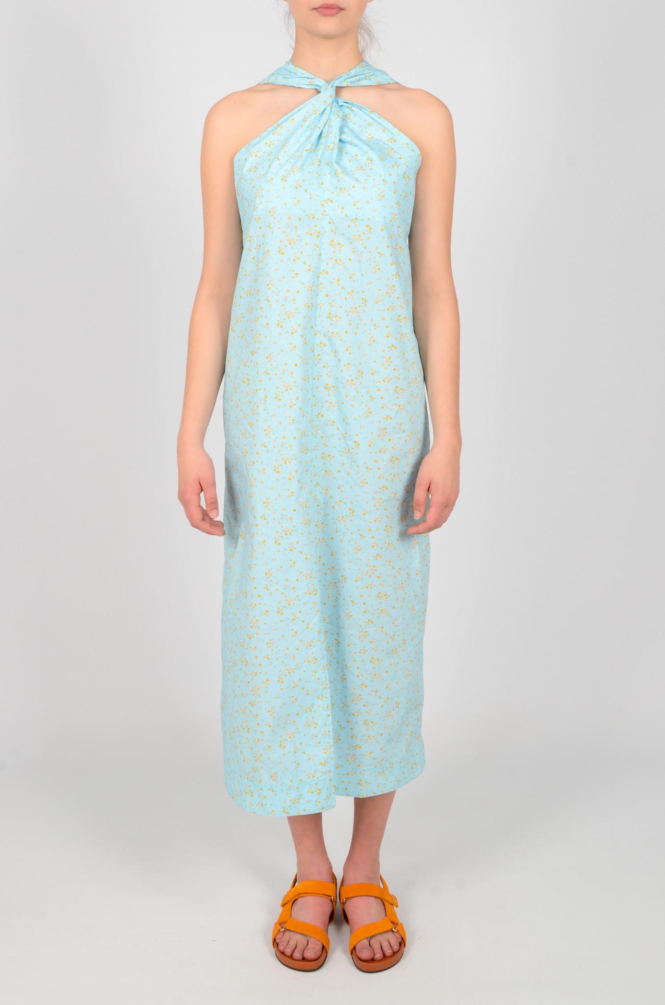 FLORAL HALTER NECK DRESS-1