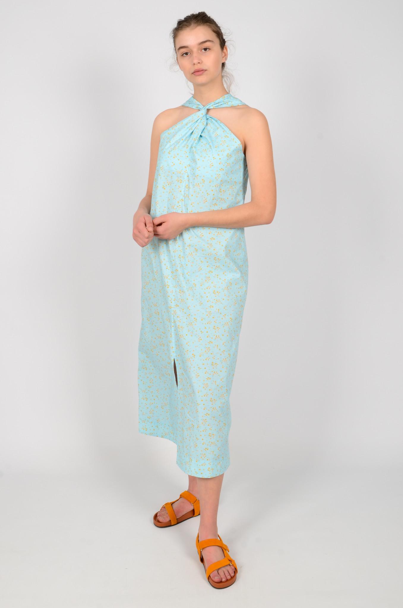 FLORAL HALTER NECK DRESS-6