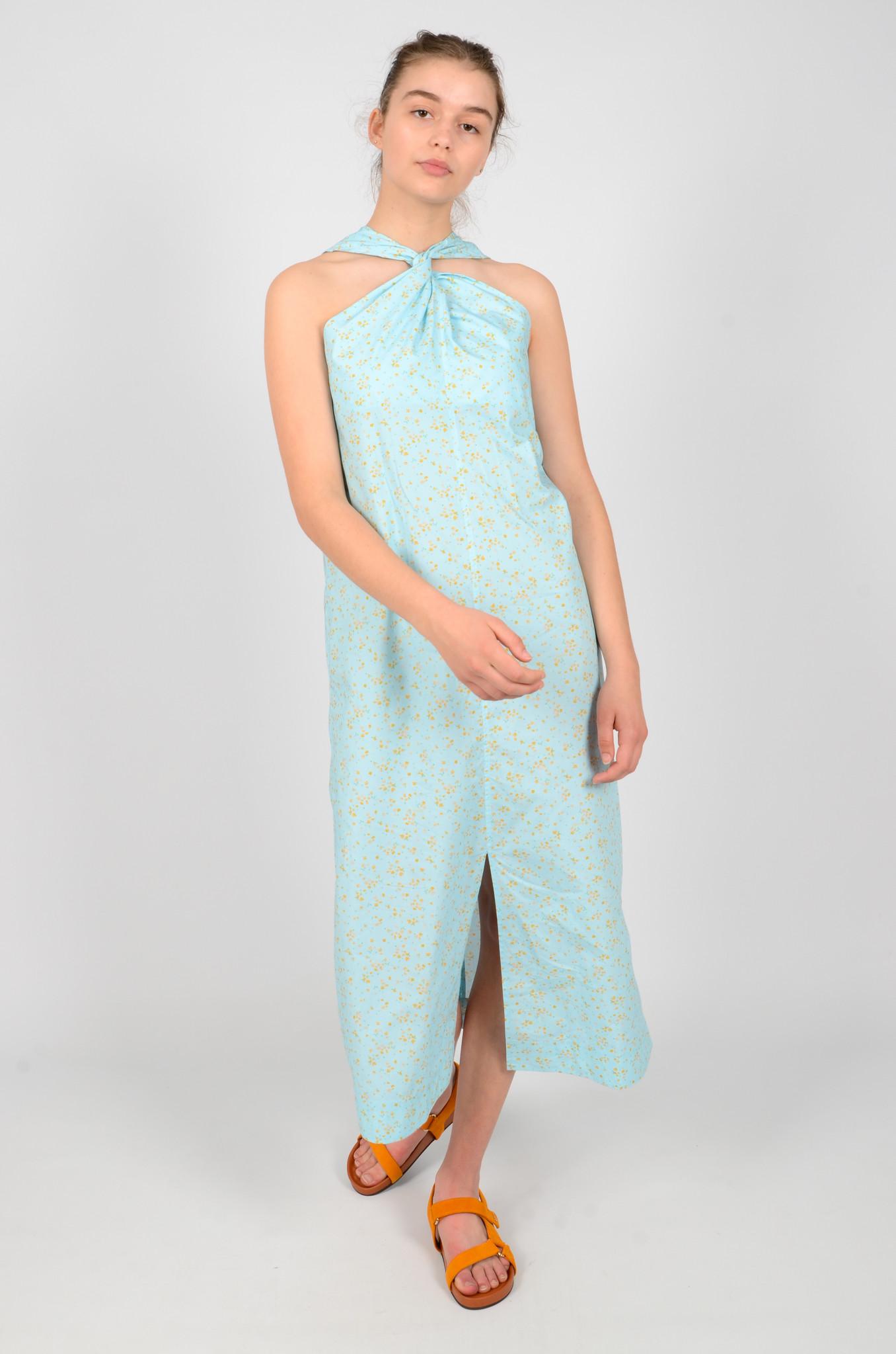 FLORAL HALTER NECK DRESS-2