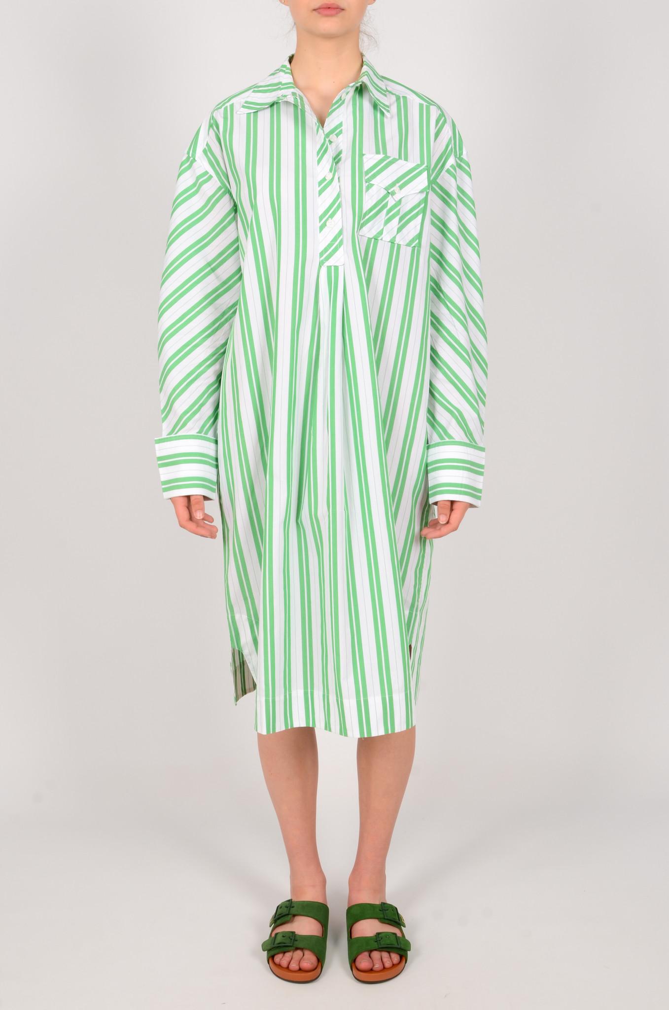 STRIPED OVERSIZED SHIRT DRESS-1