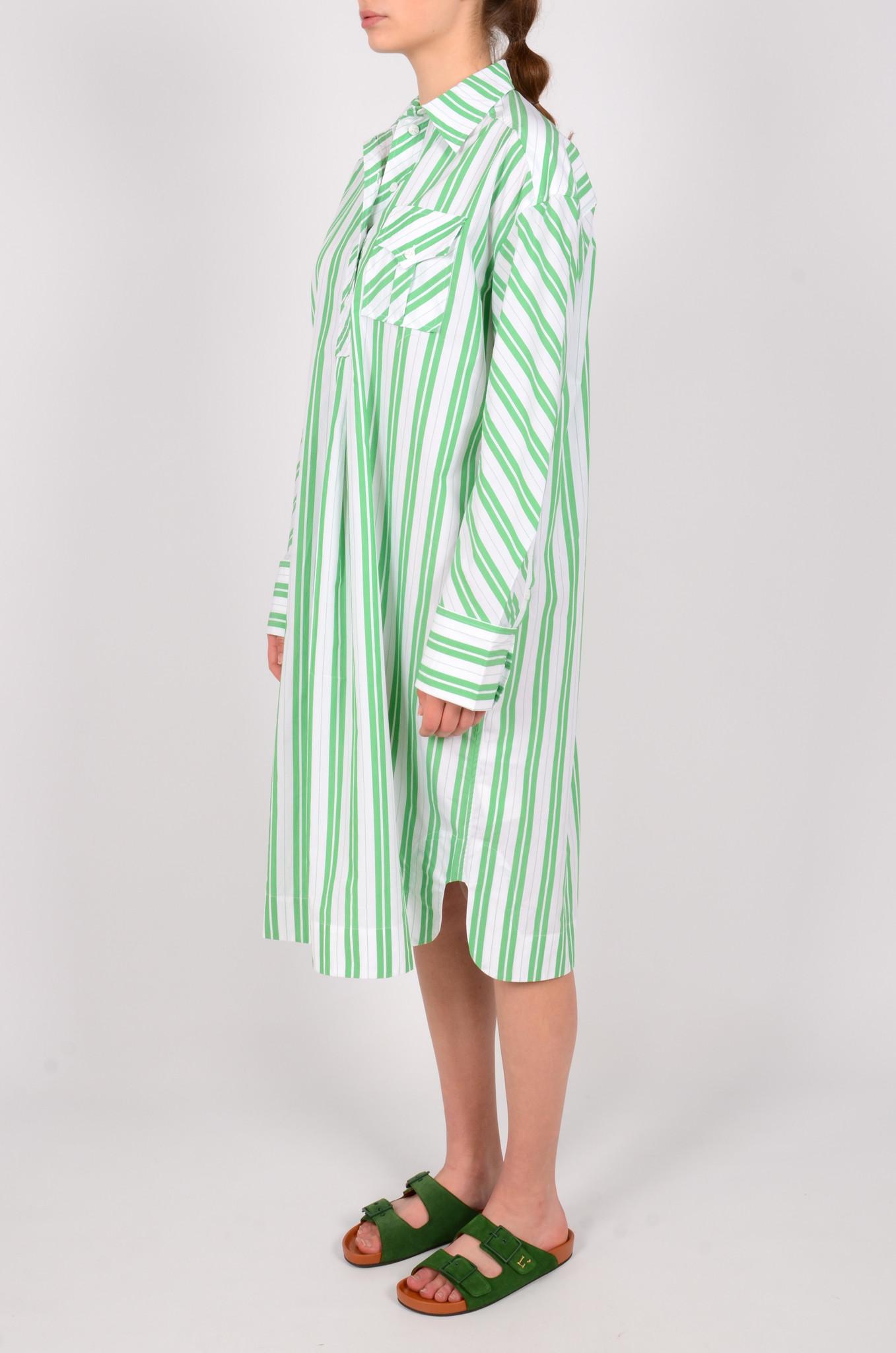 STRIPED OVERSIZED SHIRT DRESS-3