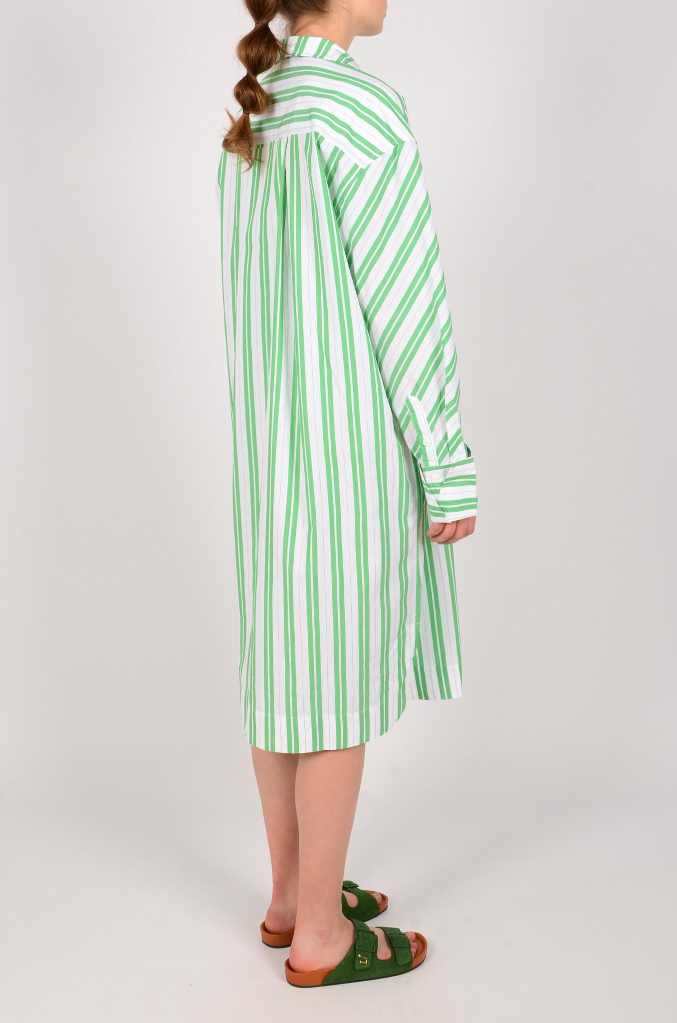 STRIPED OVERSIZED SHIRT DRESS-4