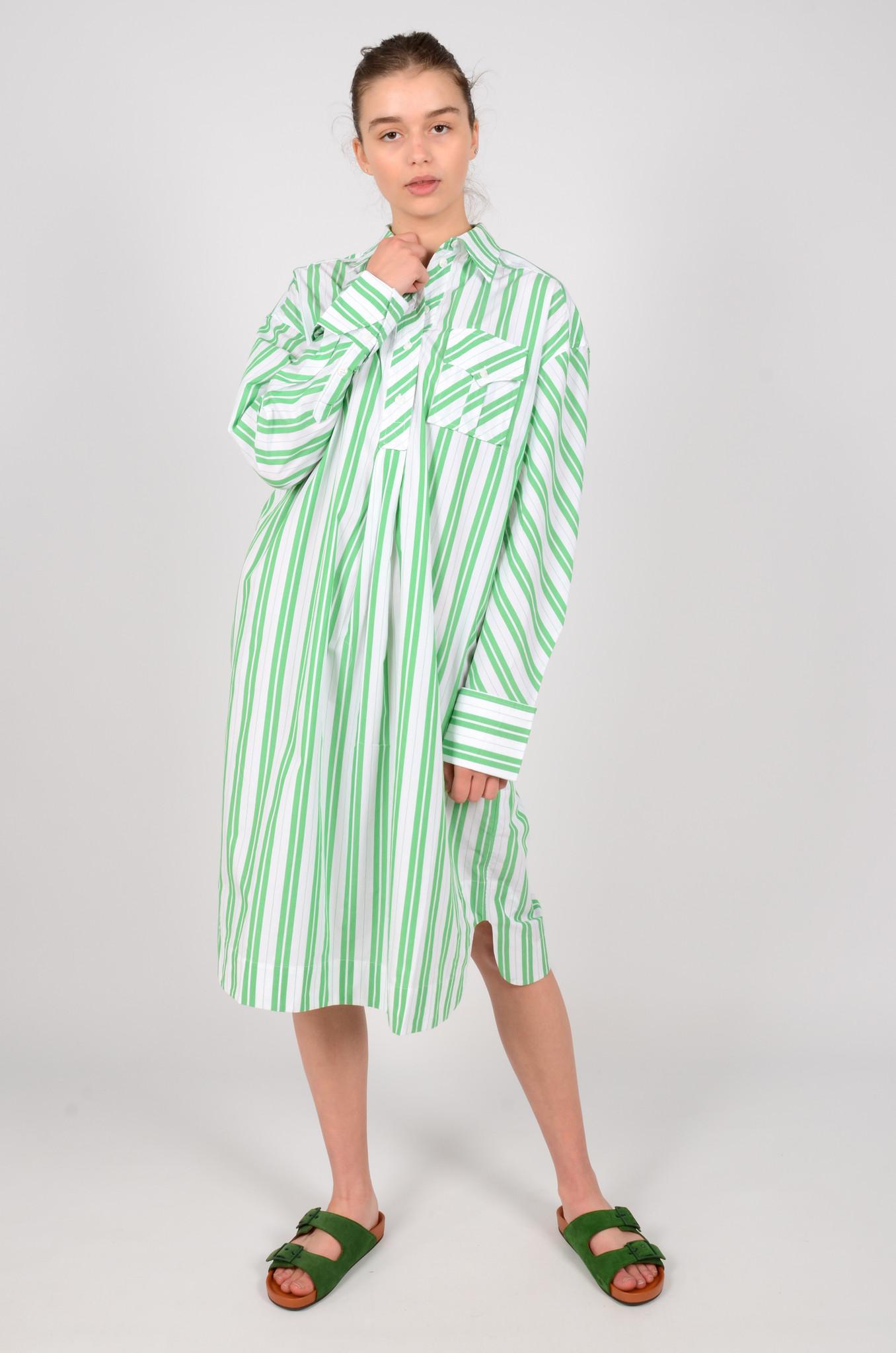 STRIPED OVERSIZED SHIRT DRESS-2