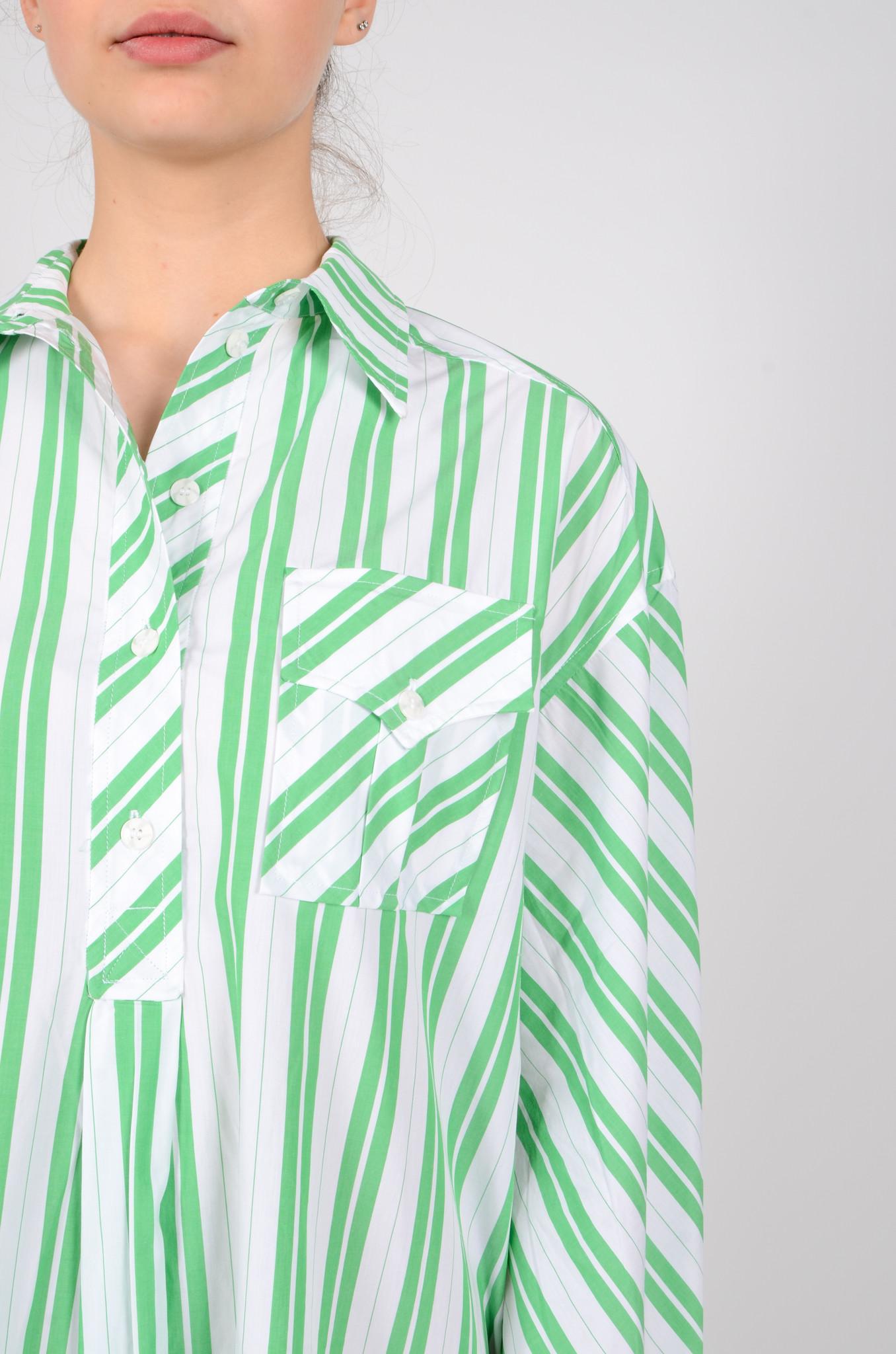 STRIPED OVERSIZED SHIRT DRESS-5