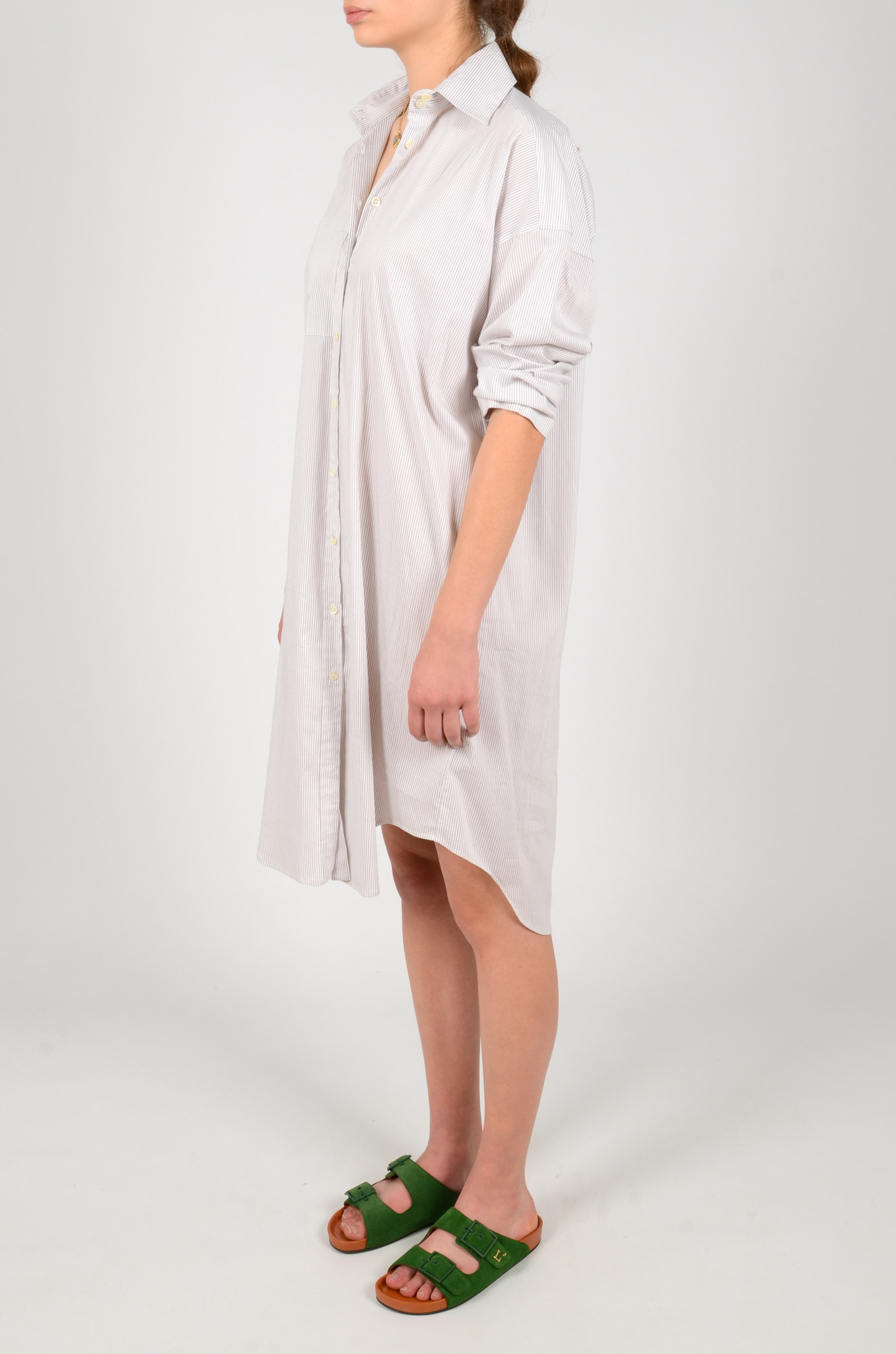 STRIPED SHIRT DRESS-3