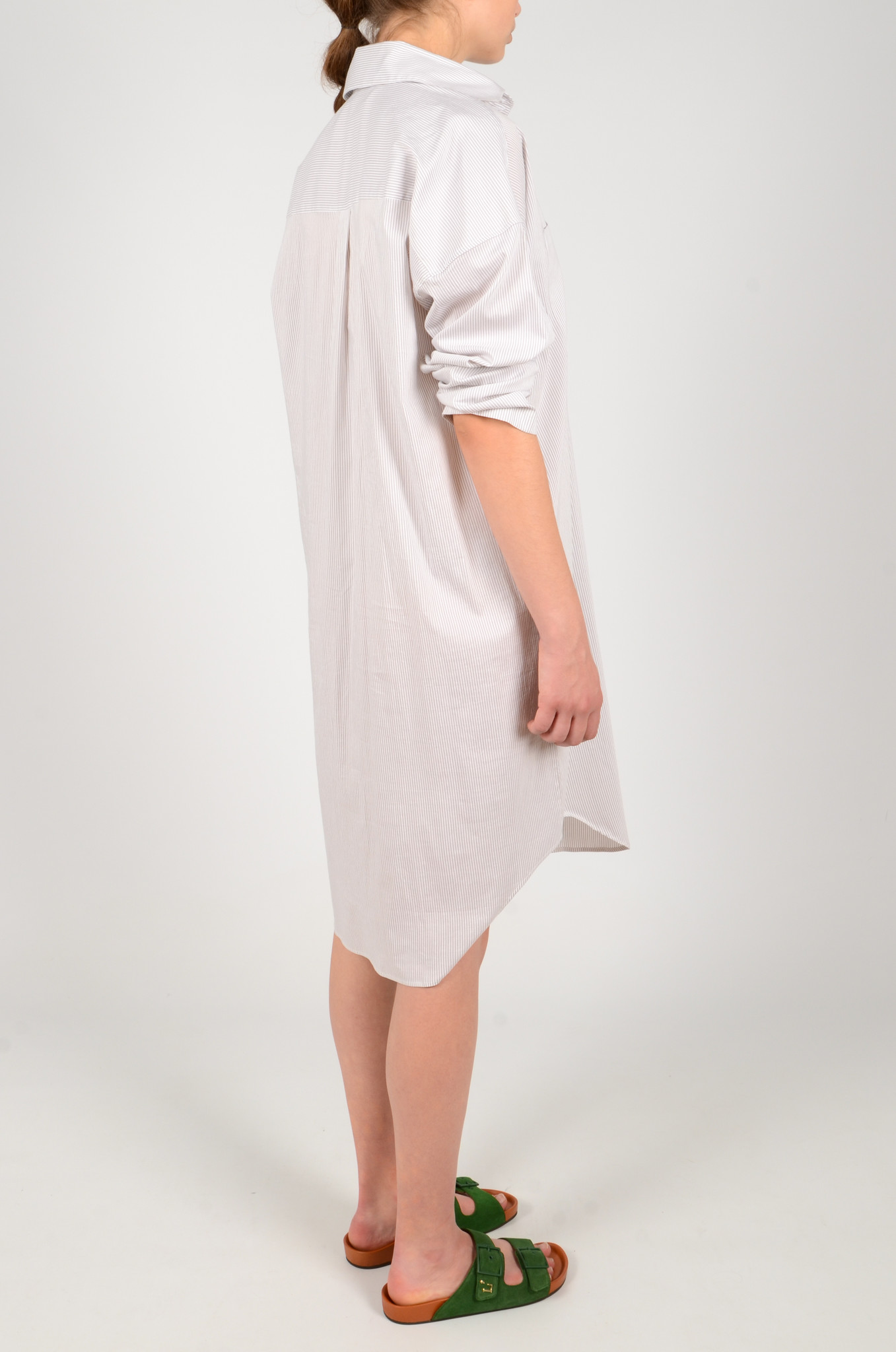 STRIPED SHIRT DRESS-4